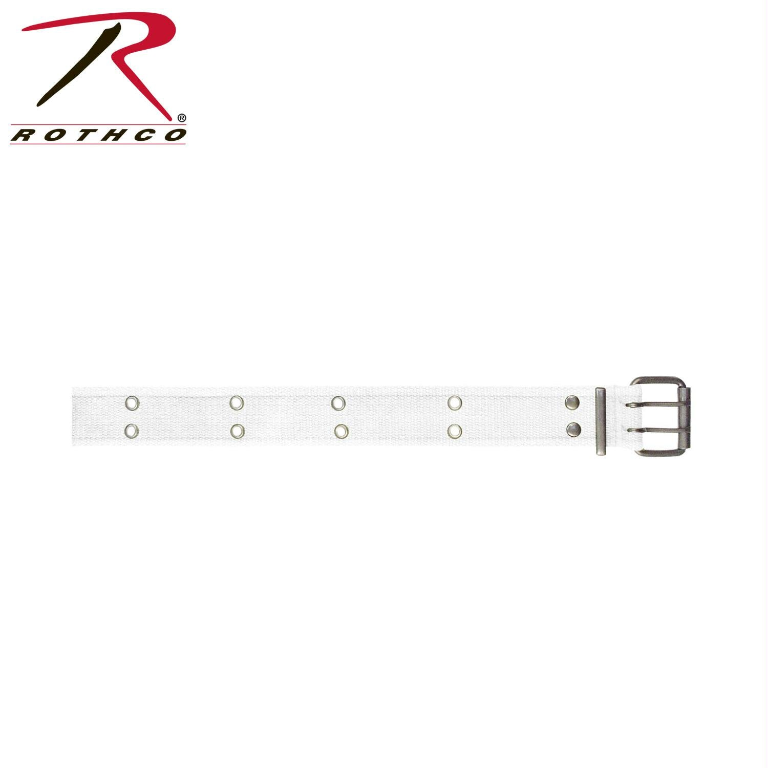 Rothco Vintage Double Prong Buckle Belt - White / S