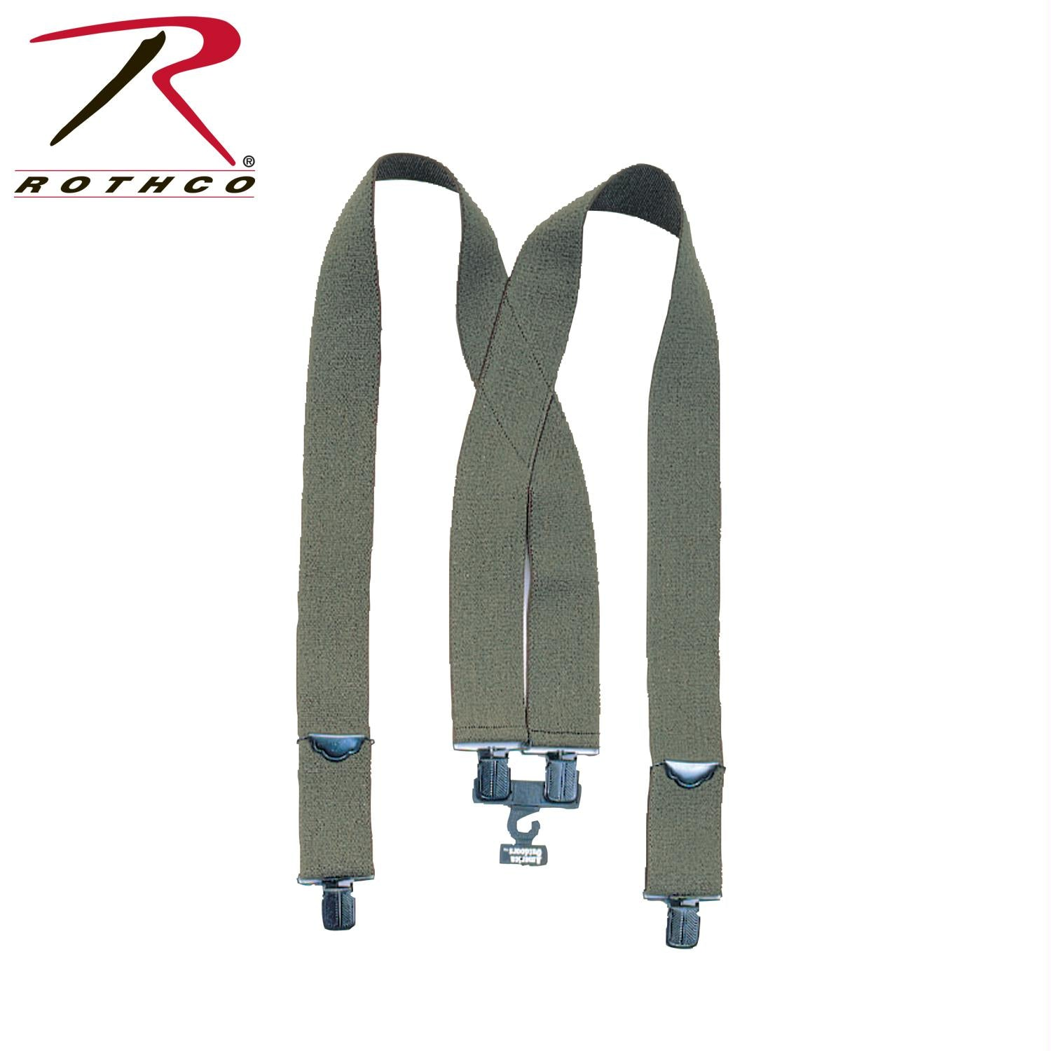 Rothco Pants Suspenders - Olive Drab