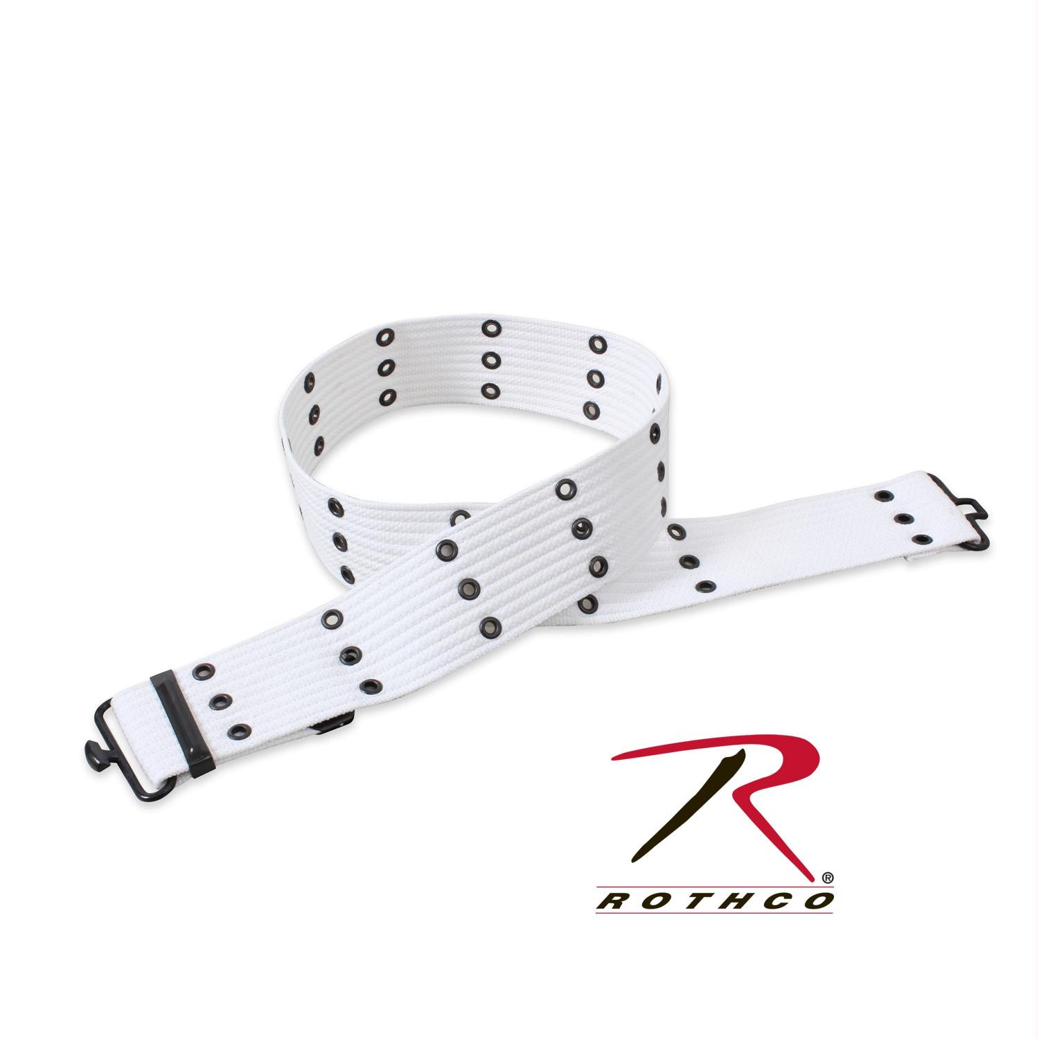 Rothco Military Style Pistol Belts - White
