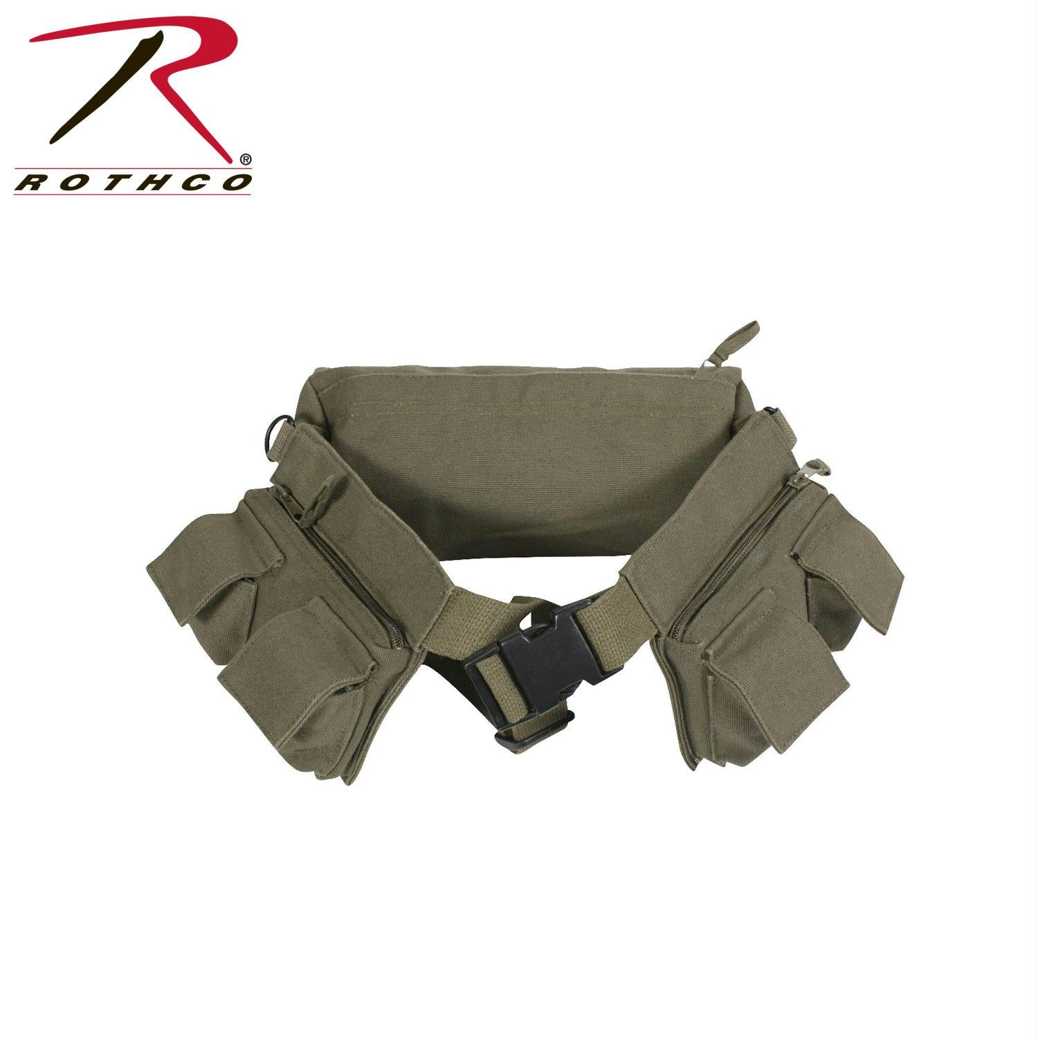 Rothco Canvas 7 Pocket Fanny Pack - Olive Drab
