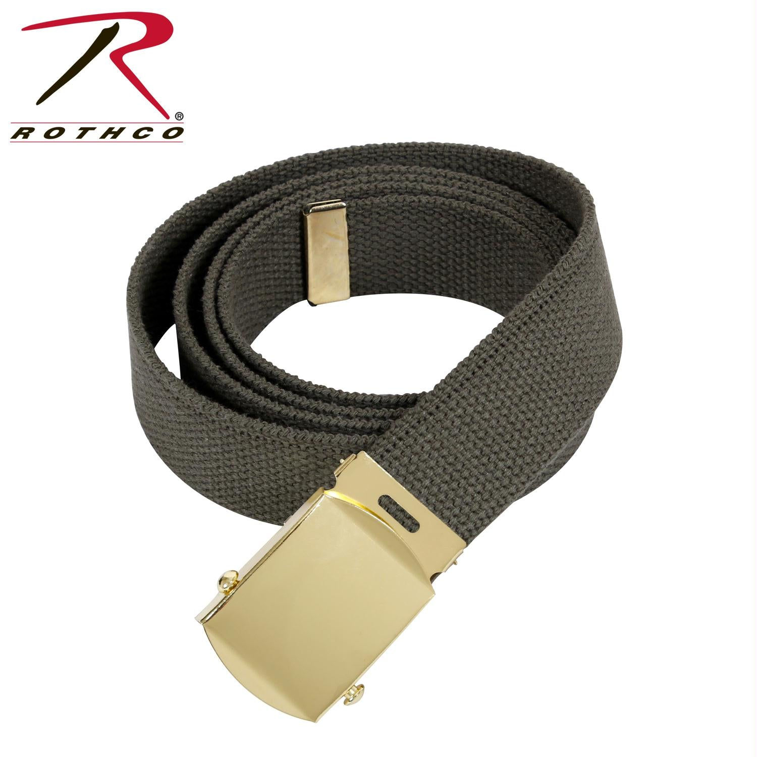 Rothco 64 Inch Military Color Web Belts - Gold / Olive Drab