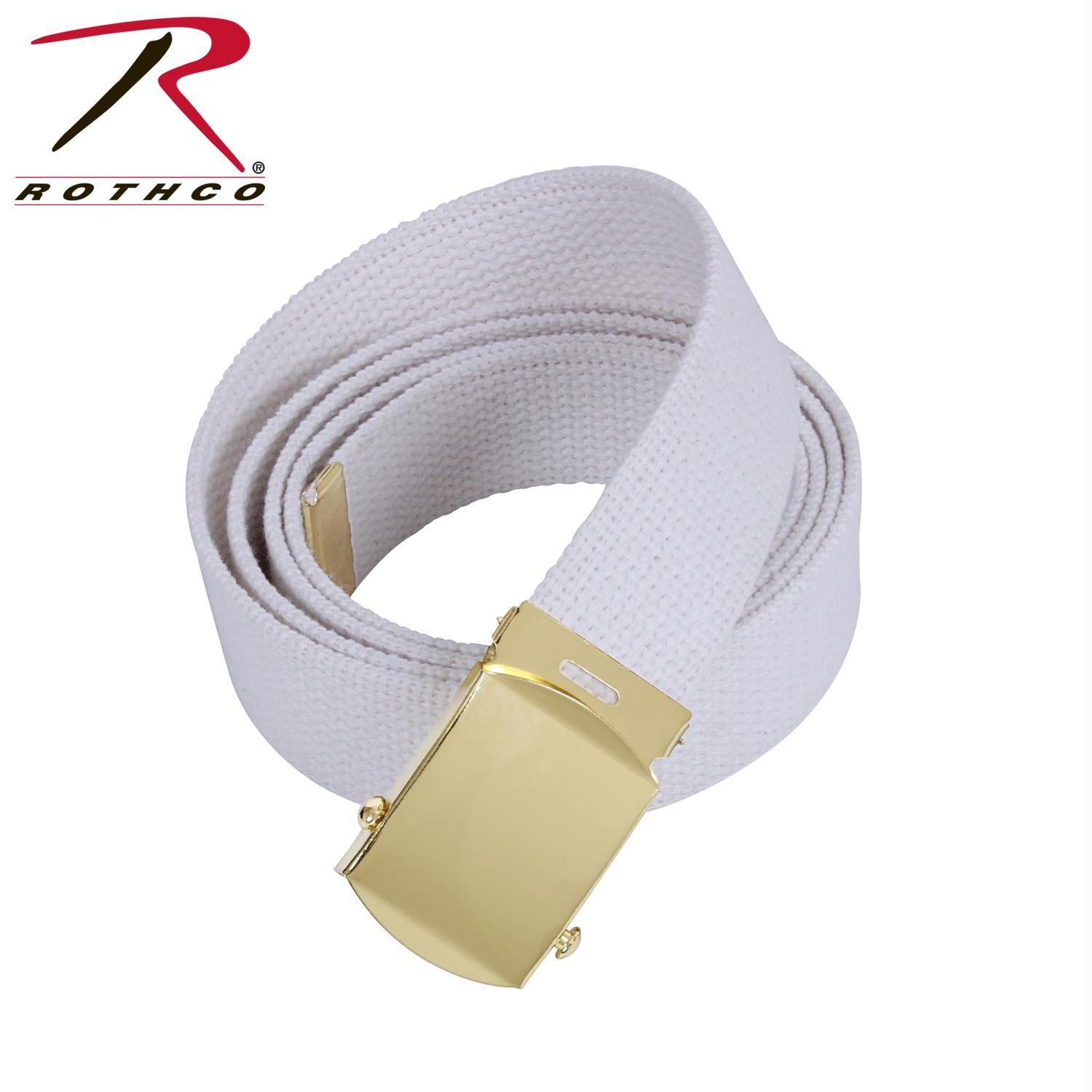 Rothco 64 Inch Military Color Web Belts - Gold / White