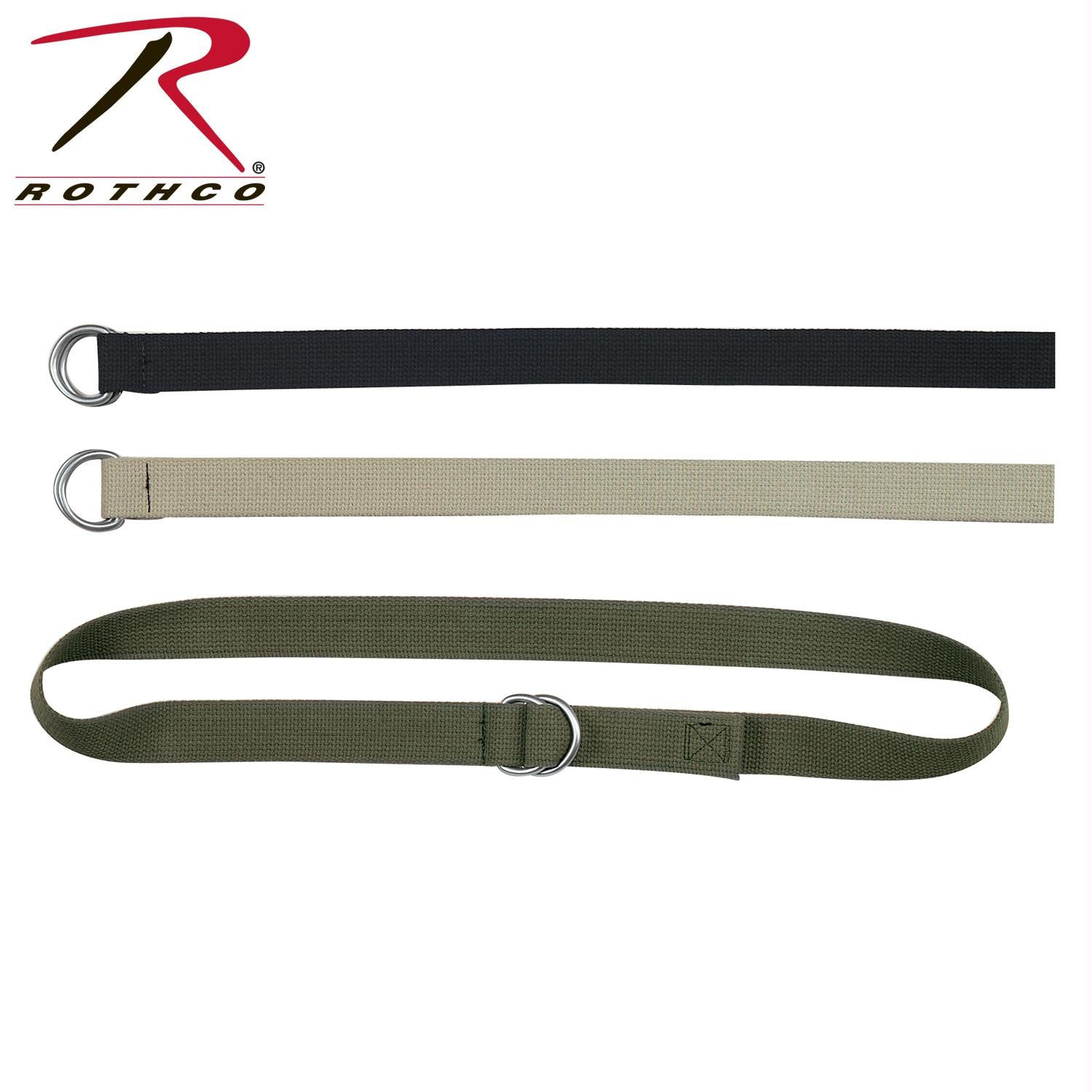 Rothco-Military D-Ring Expedition Belt - Black / XL