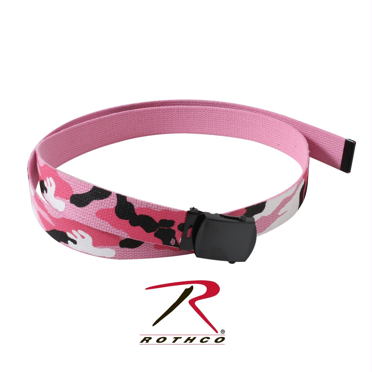Rothco Camo Reversible Web Belt - Pink Camo / Pink / 54 Inches