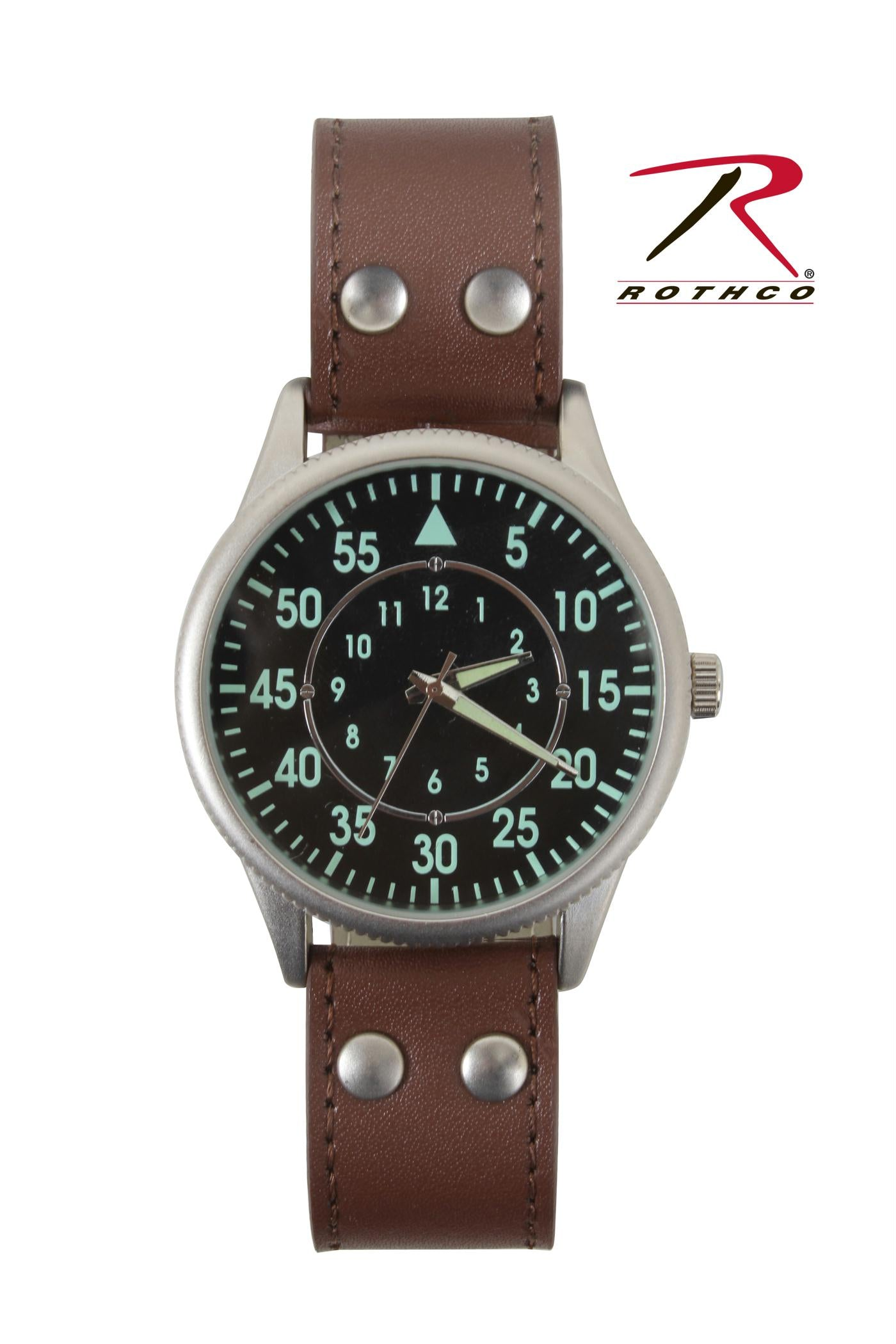 Rothco Military Style Watch With Leather Strap
