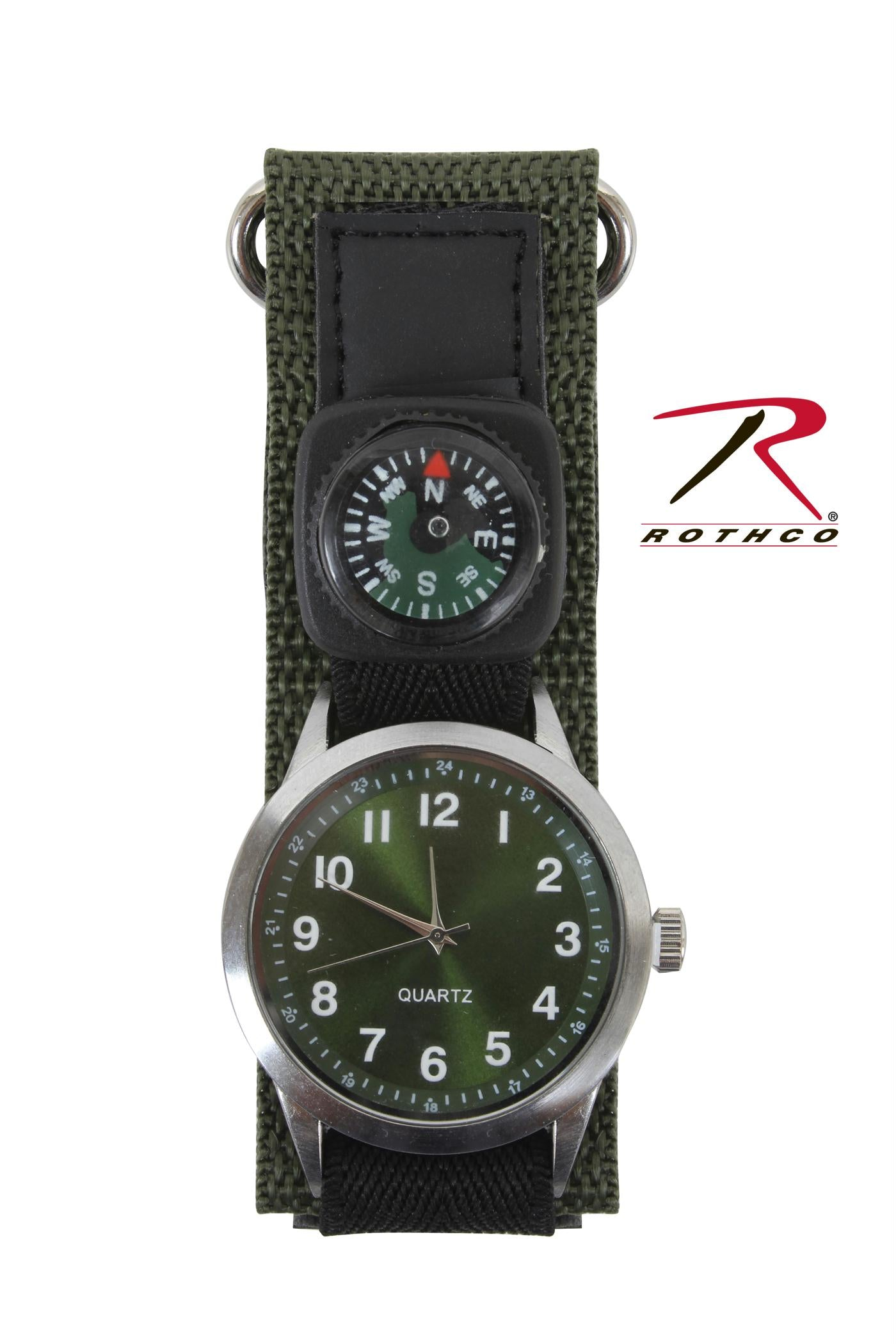 Rothco Watch With Compass-Olive Drab - One Size