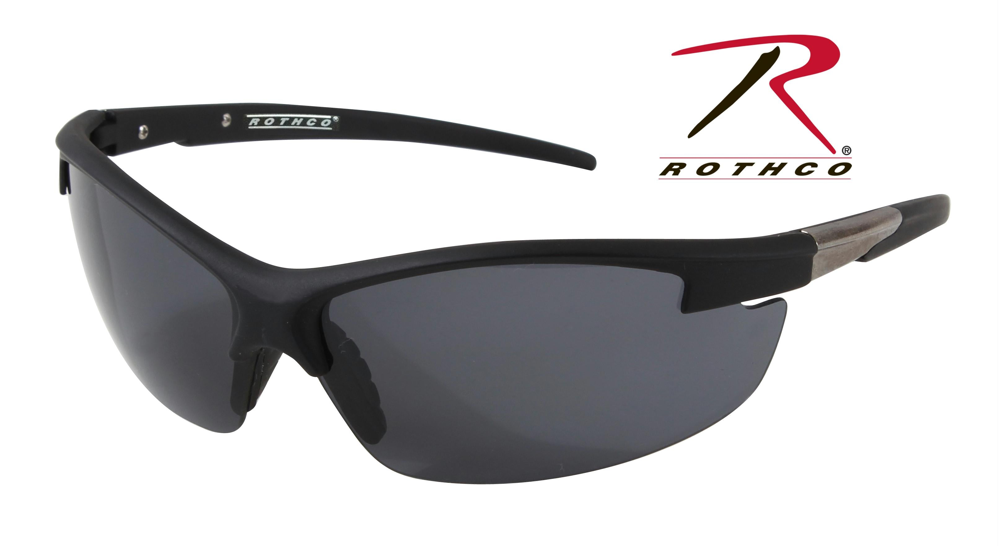 Rothco AR-7 Sport Glasses - Black / Smoke