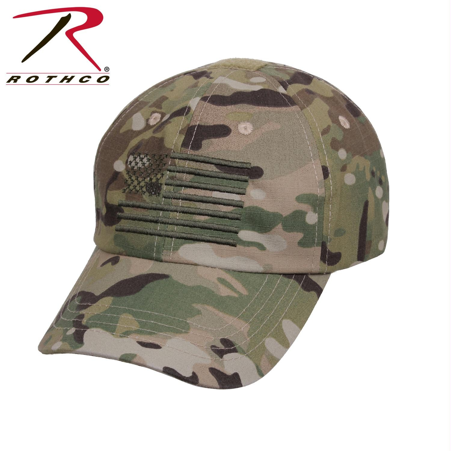 Rothco Tactical Operator Cap With US Flag - MultiCam / One Size
