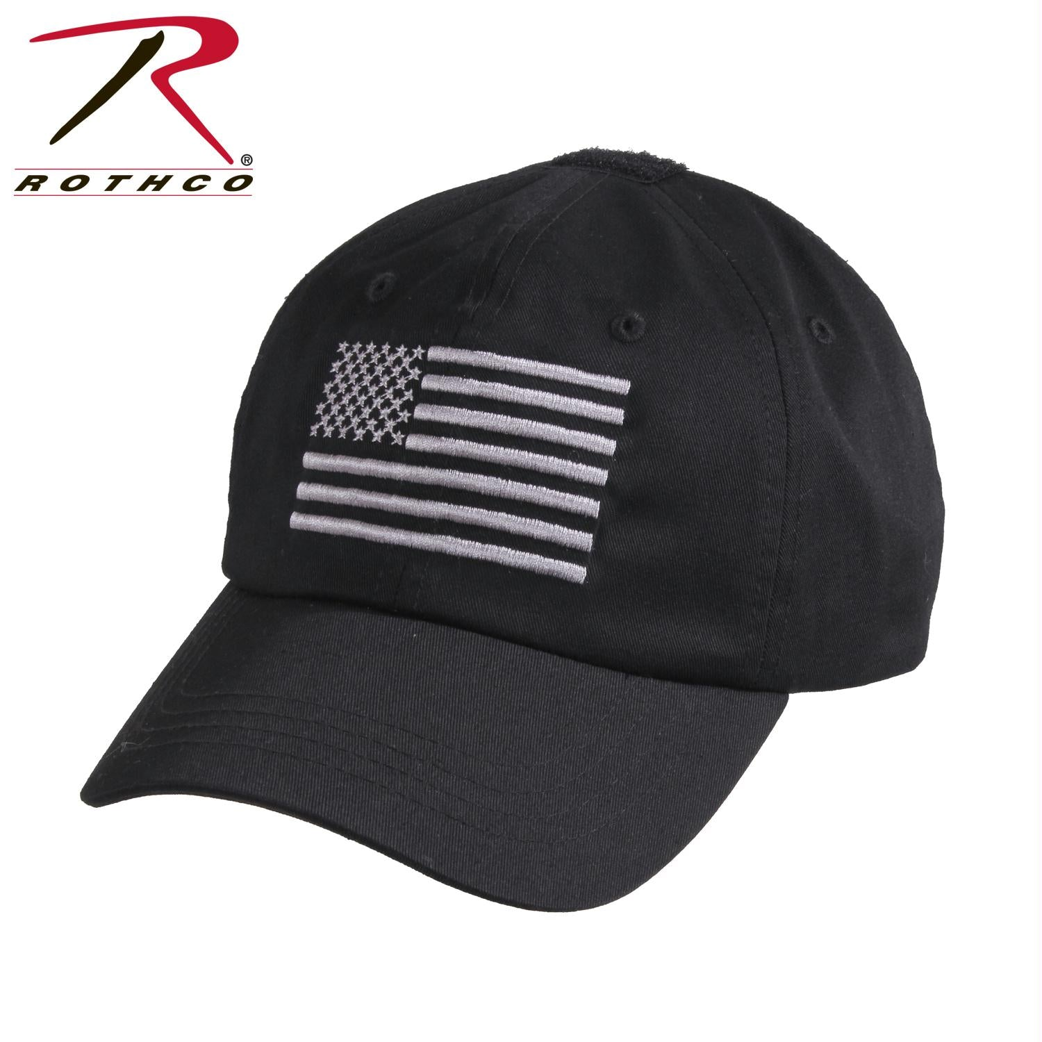 Rothco Tactical Operator Cap With US Flag - Black / One Size