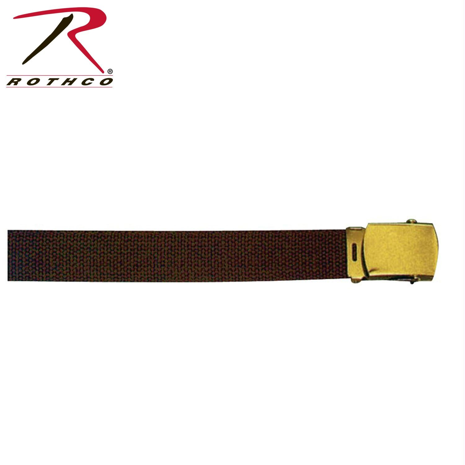 Rothco 54 Inch Military Web Belts - Gold / Brown