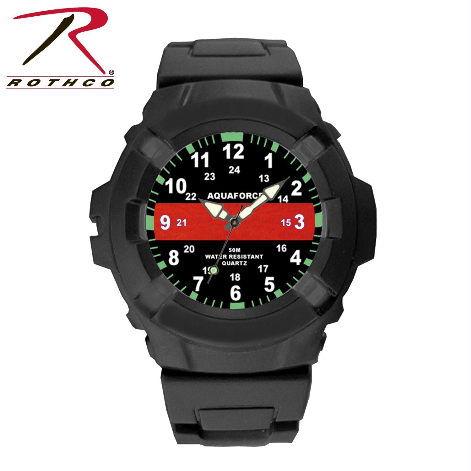 Aquaforce Thin Red Line Watch