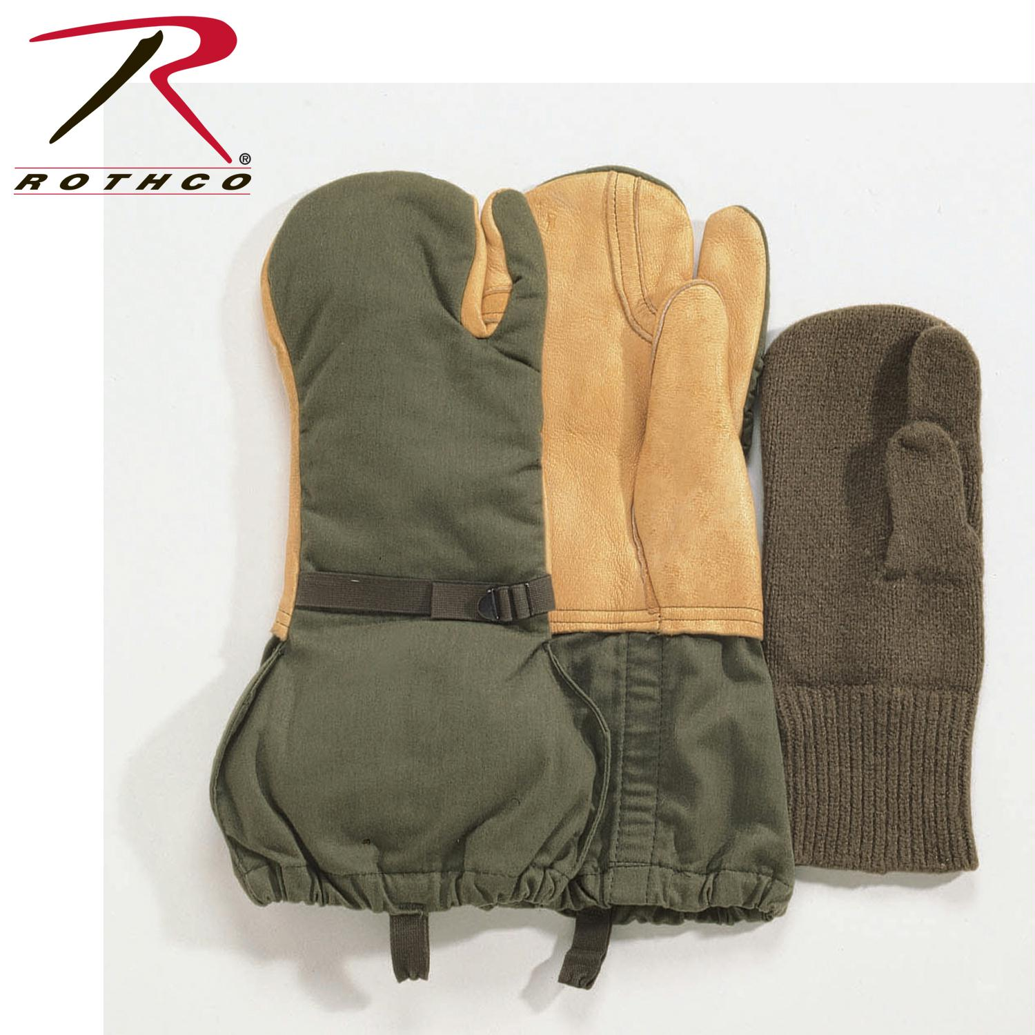Rothco G.I. Leather Trigger Finger Mittens - M