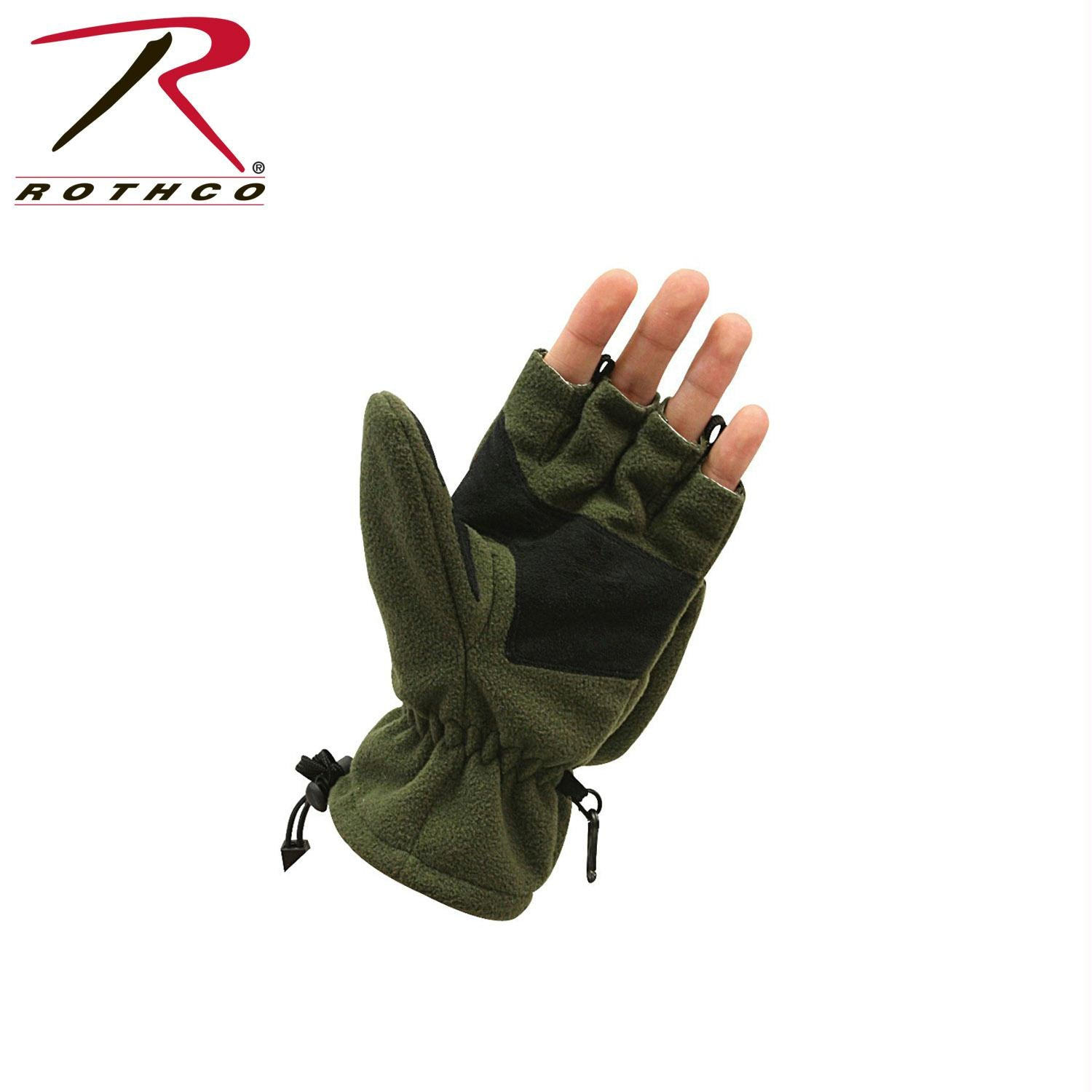 Rothco Fingerless Sniper Glove / Mittens - Olive Drab / M