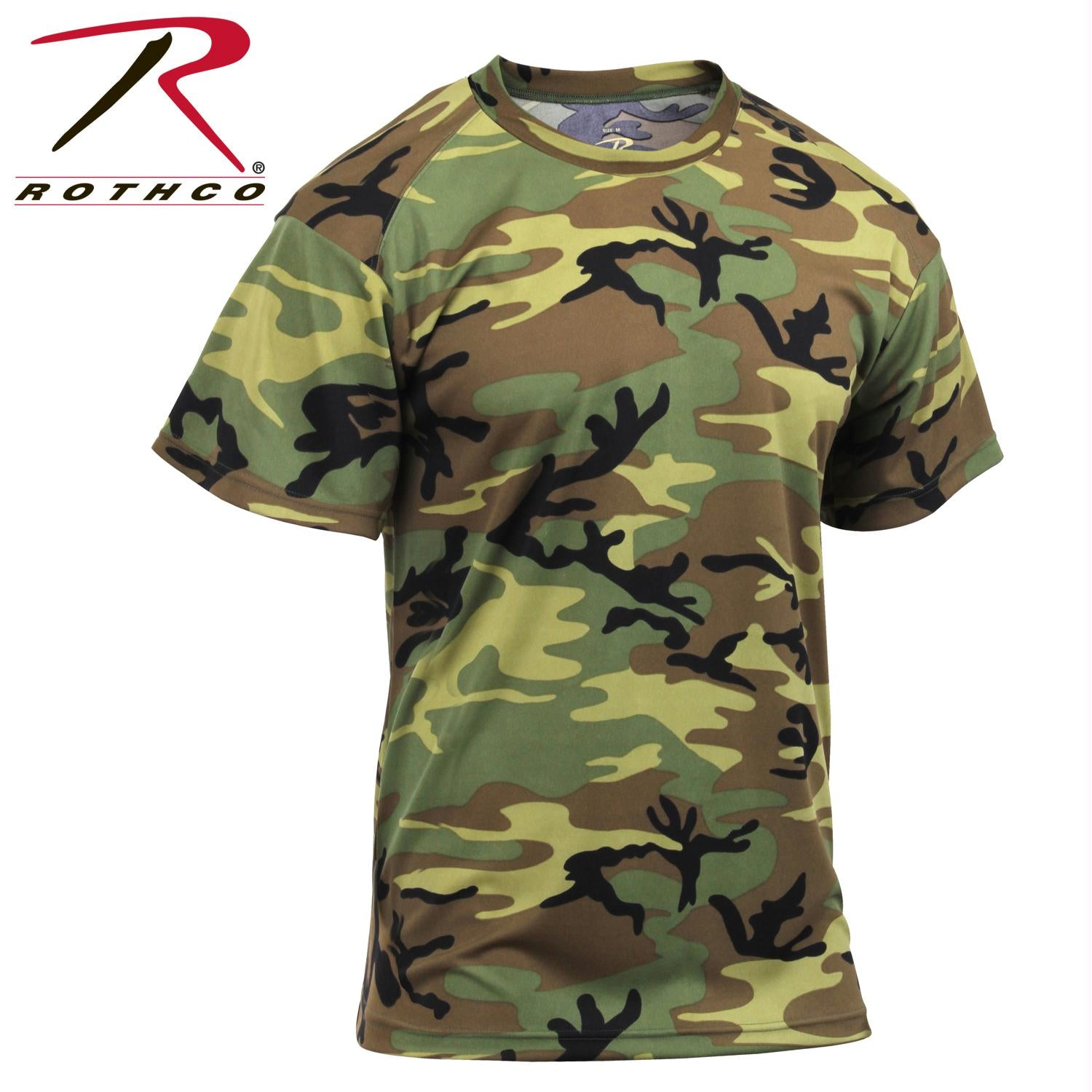 Rothco Polyester Performance T-Shirt - Woodland Camo / L