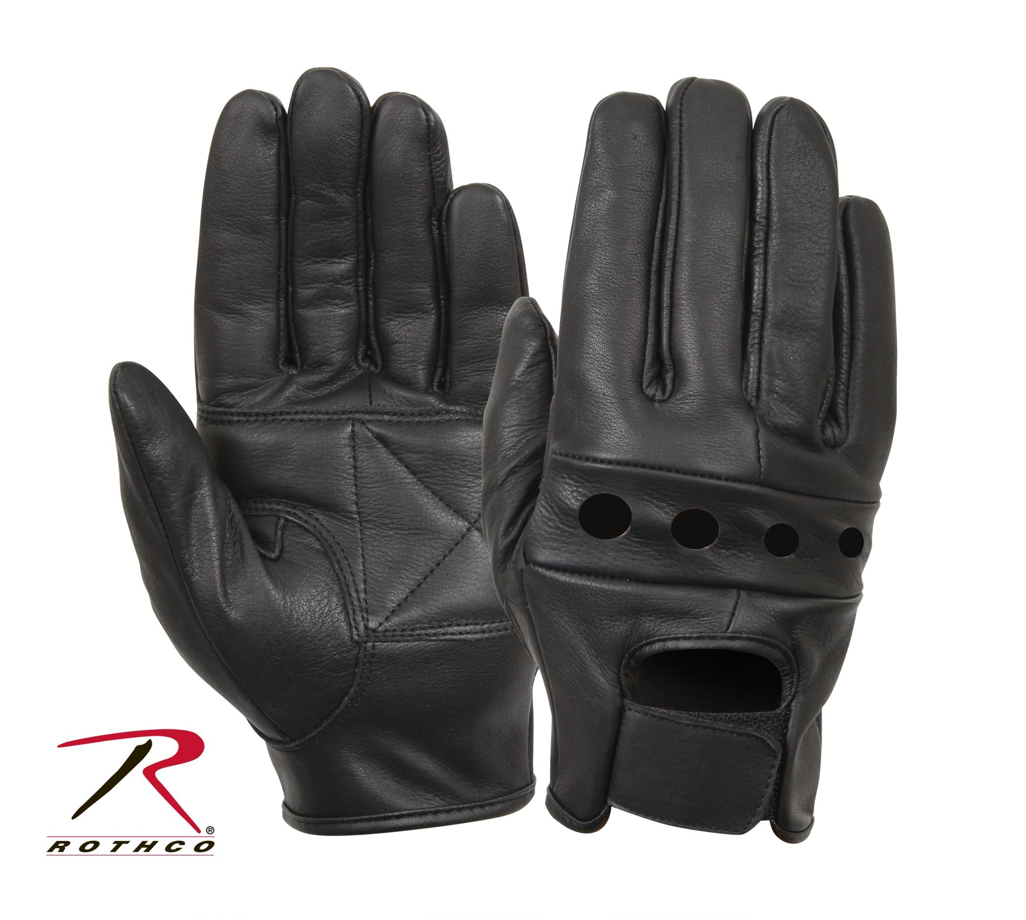Rothco Leather Motorcycle Gloves - S