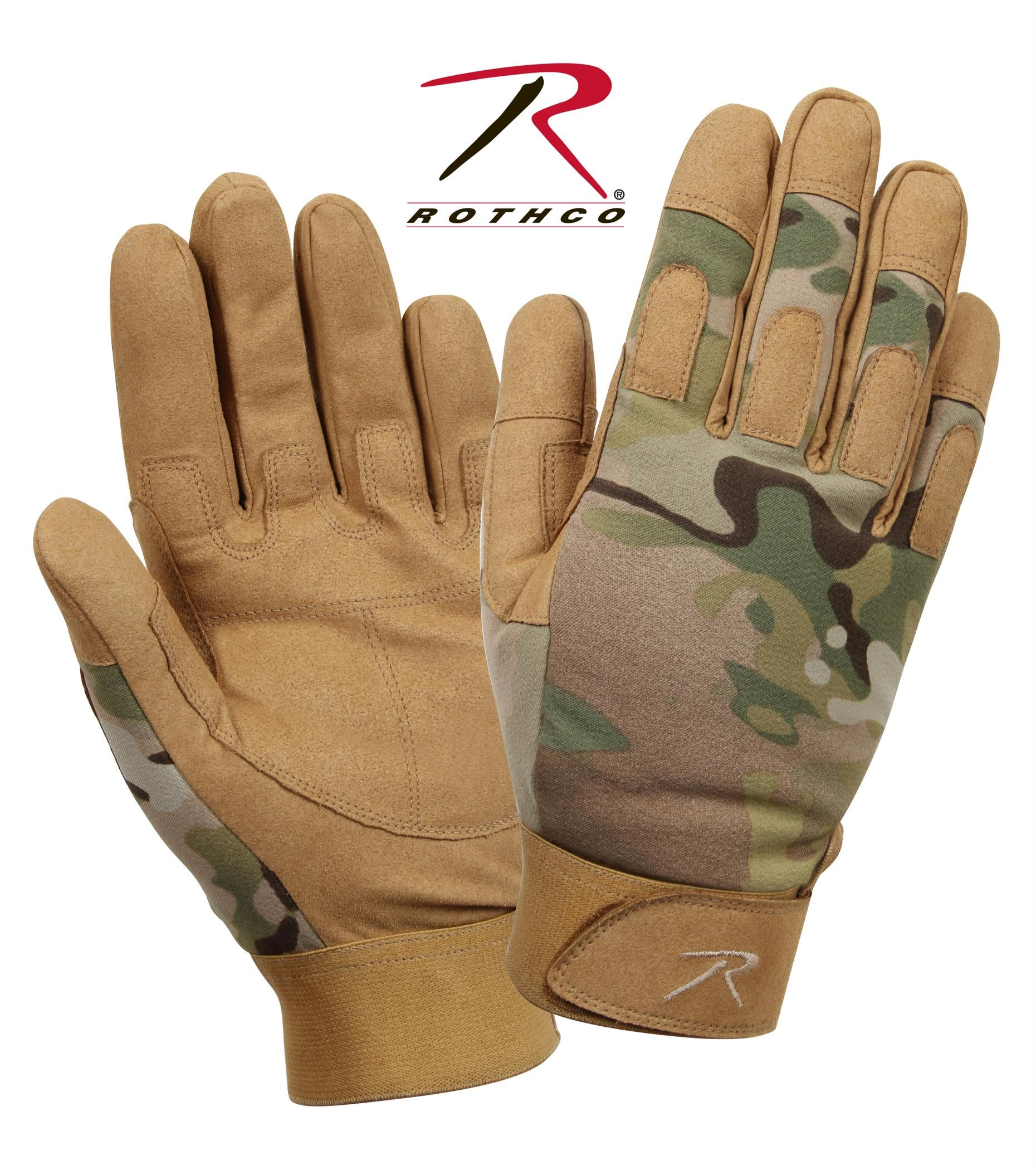 Rothco Lightweight All Purpose Duty Gloves - MultiCam / L