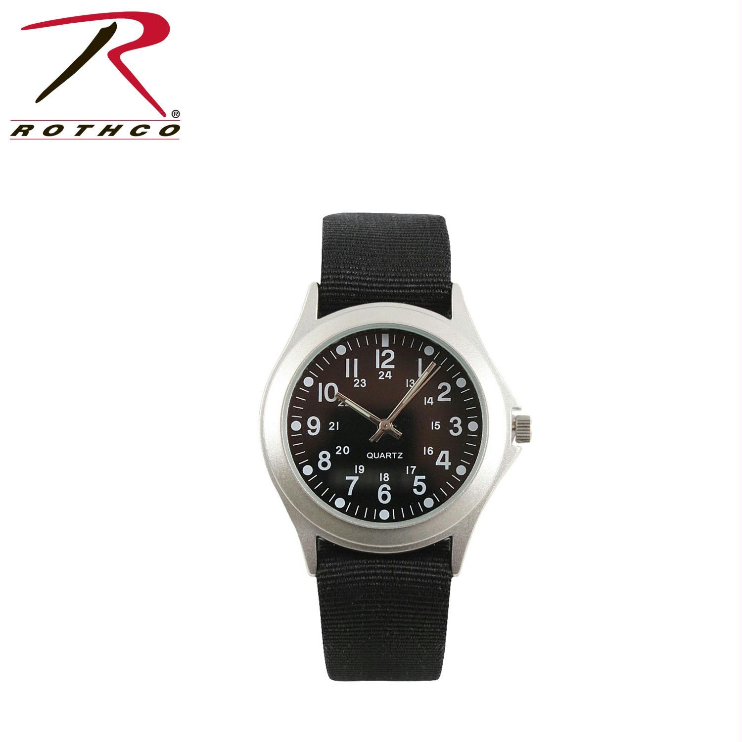 Rothco Military Style Quartz Watch - Black