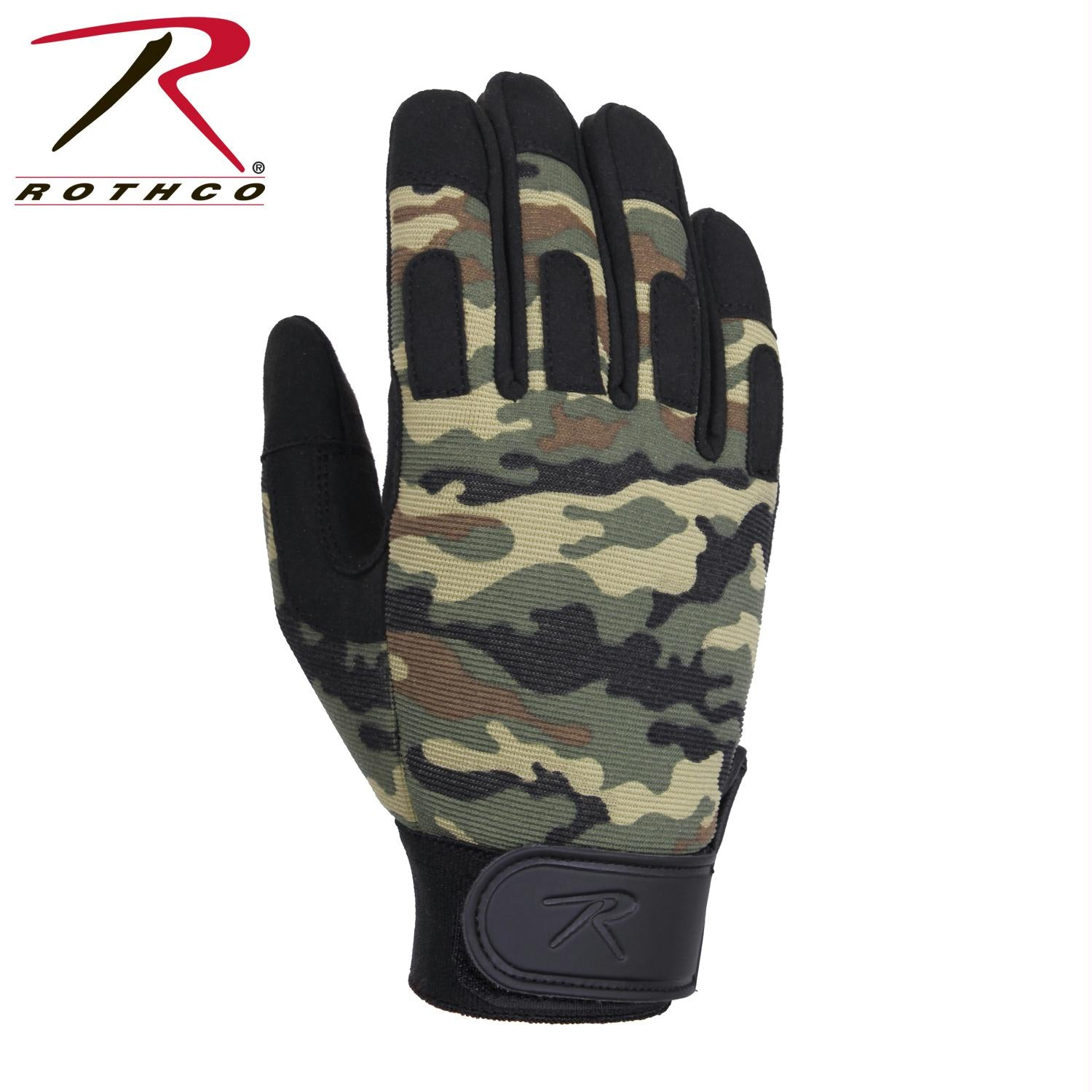 Rothco Lightweight All Purpose Duty Gloves - Woodland Camo / L