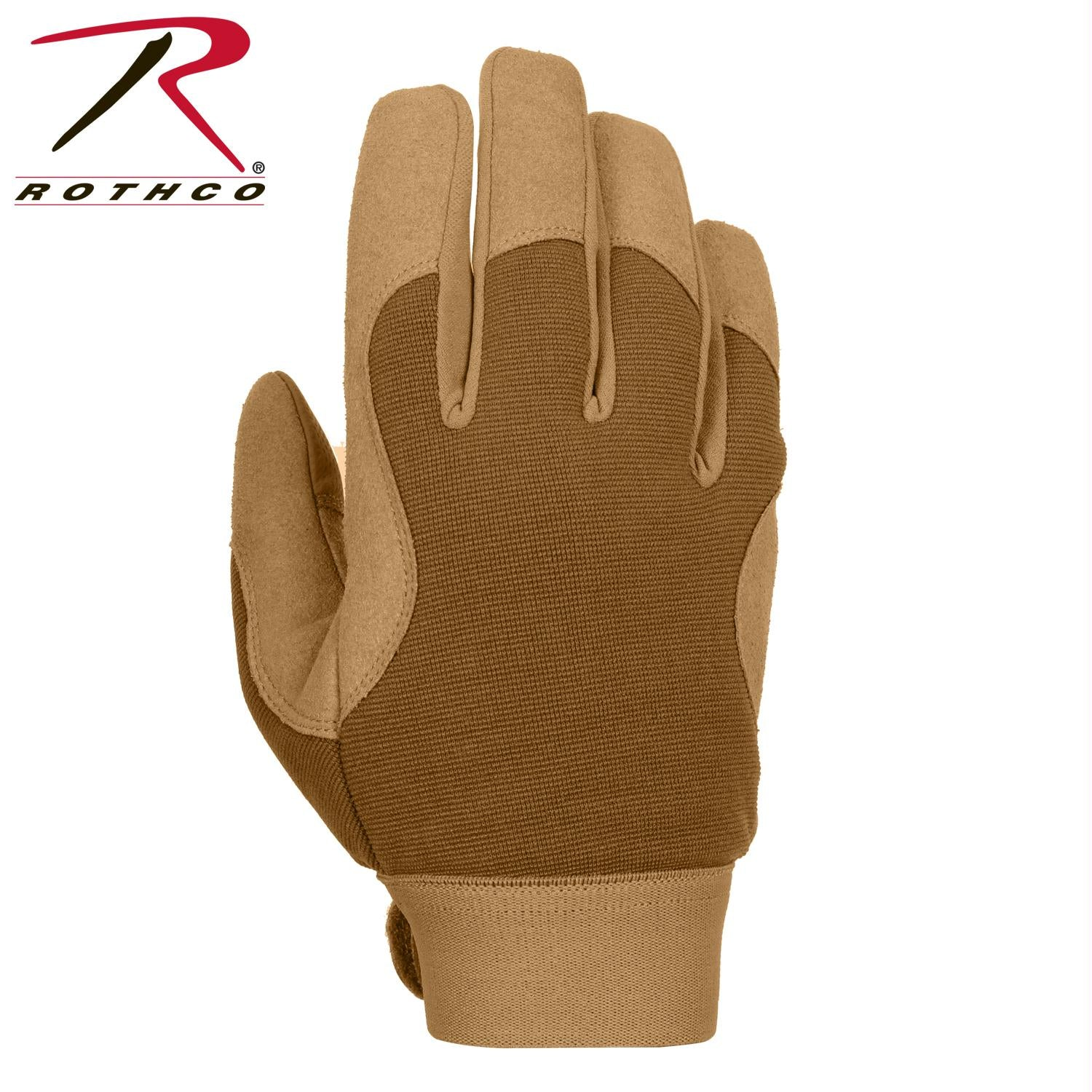 Rothco Military Mechanics Gloves - Coyote Brown / S