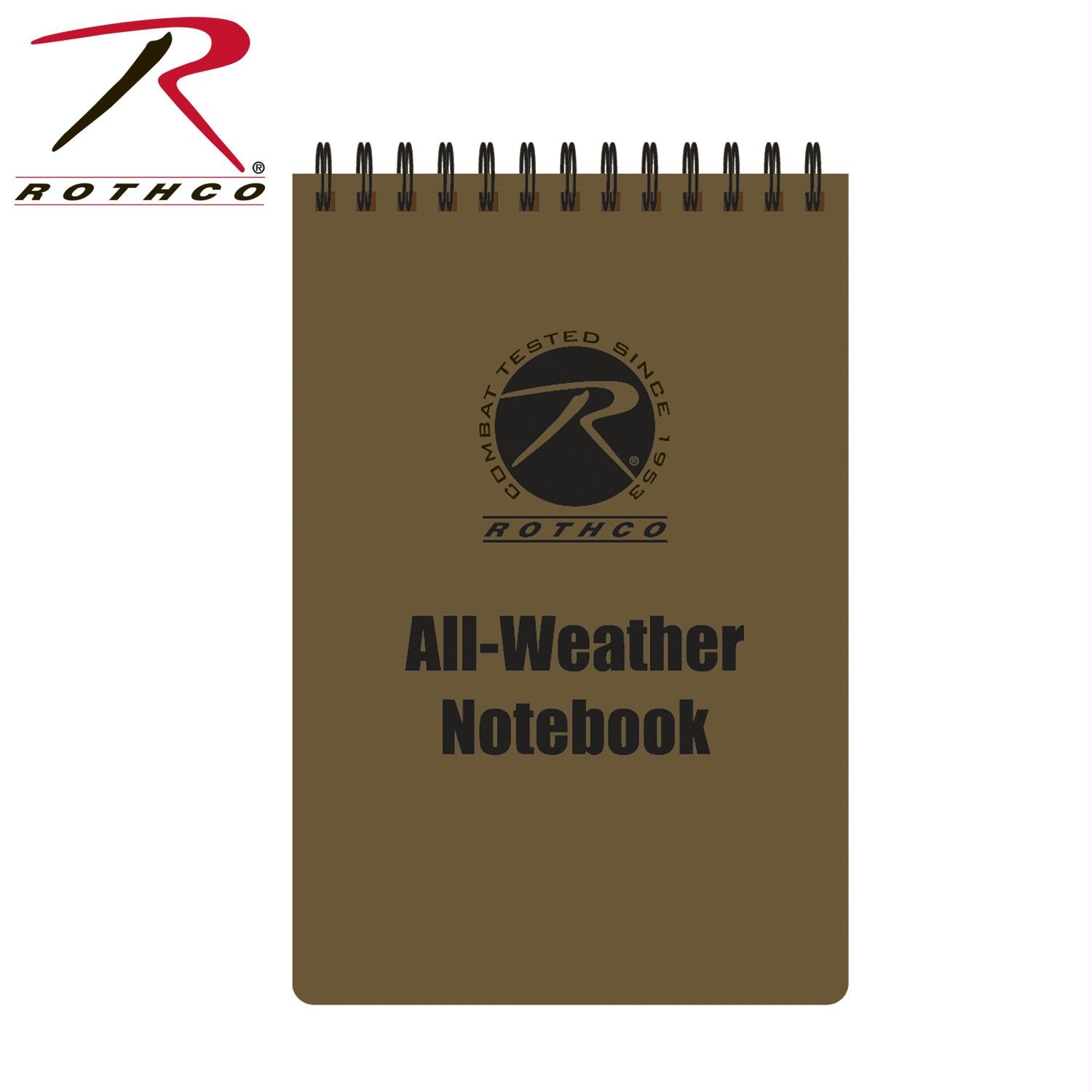 Rothco All Weather Waterproof Notebook - Coyote Brown / 4