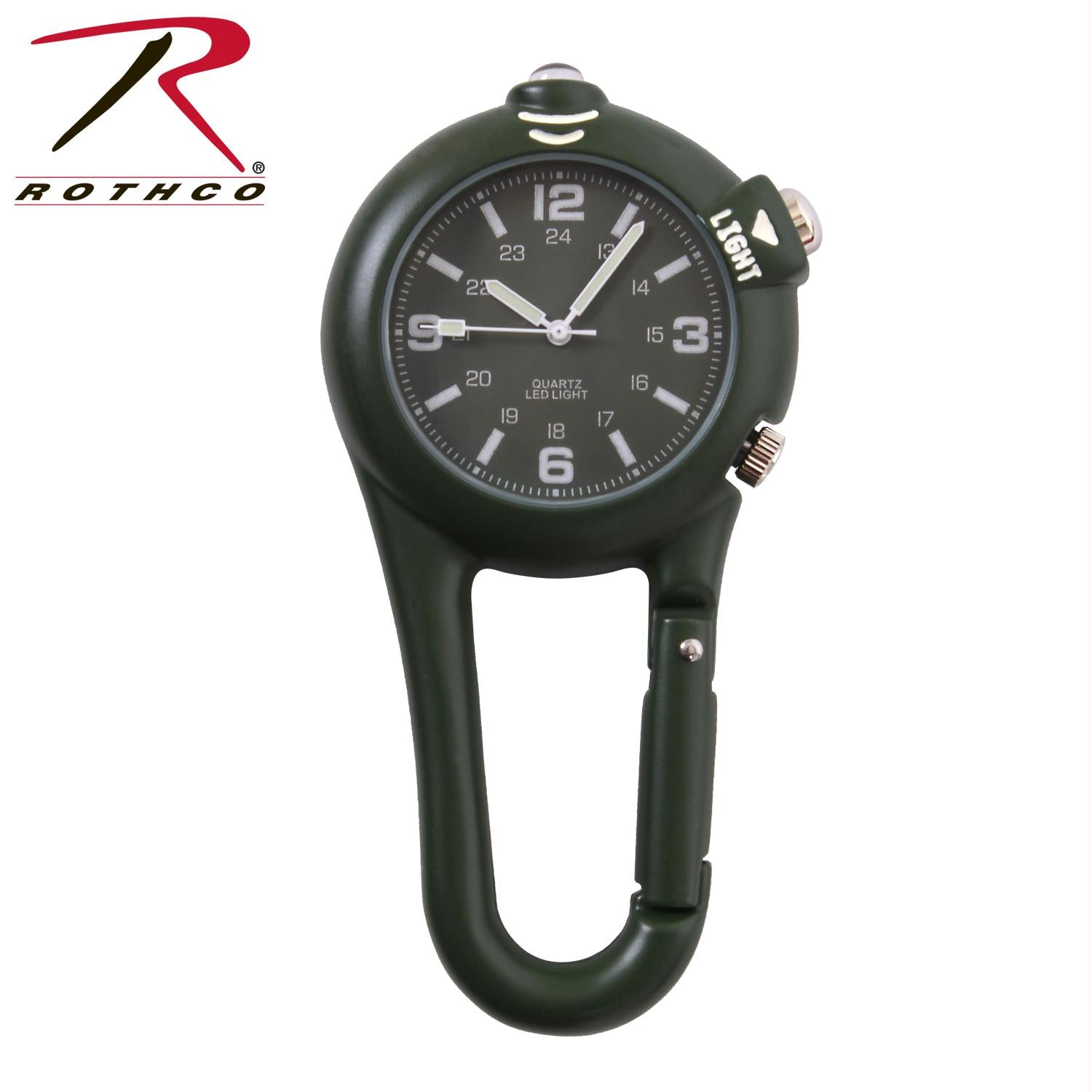 Rothco Clip Watch w/ LED Light - Olive Drab