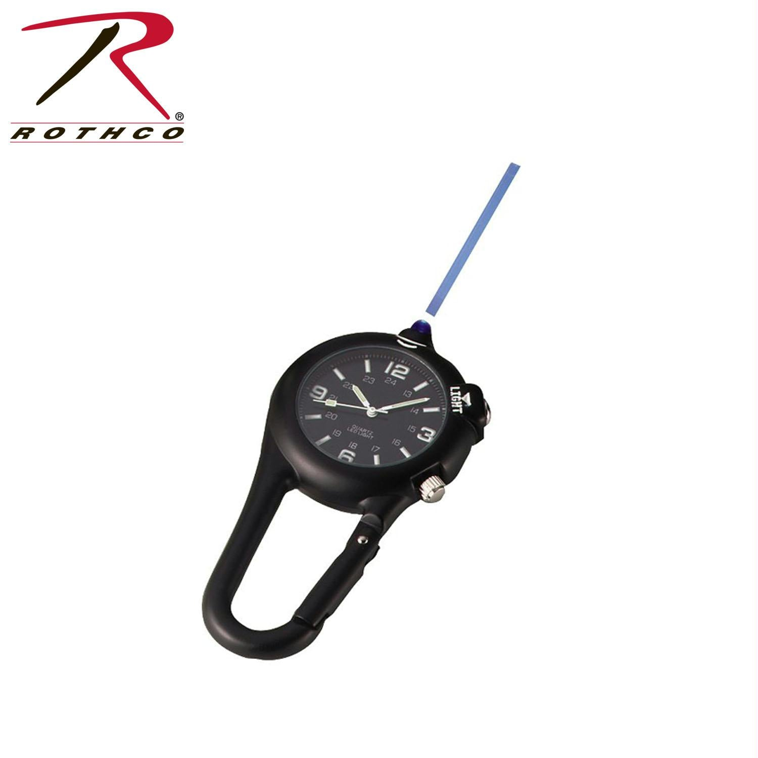 Rothco Clip Watch w/ LED Light - Black