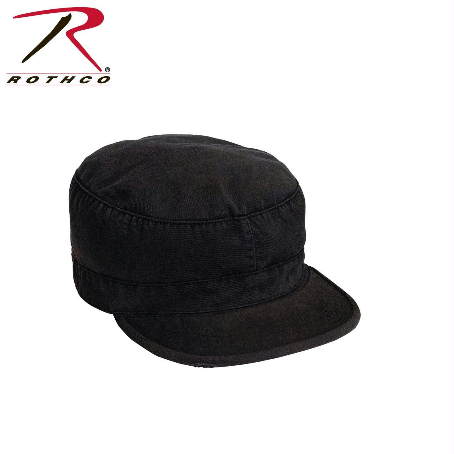 Rothco Solid Vintage Fatigue Cap - Black / M