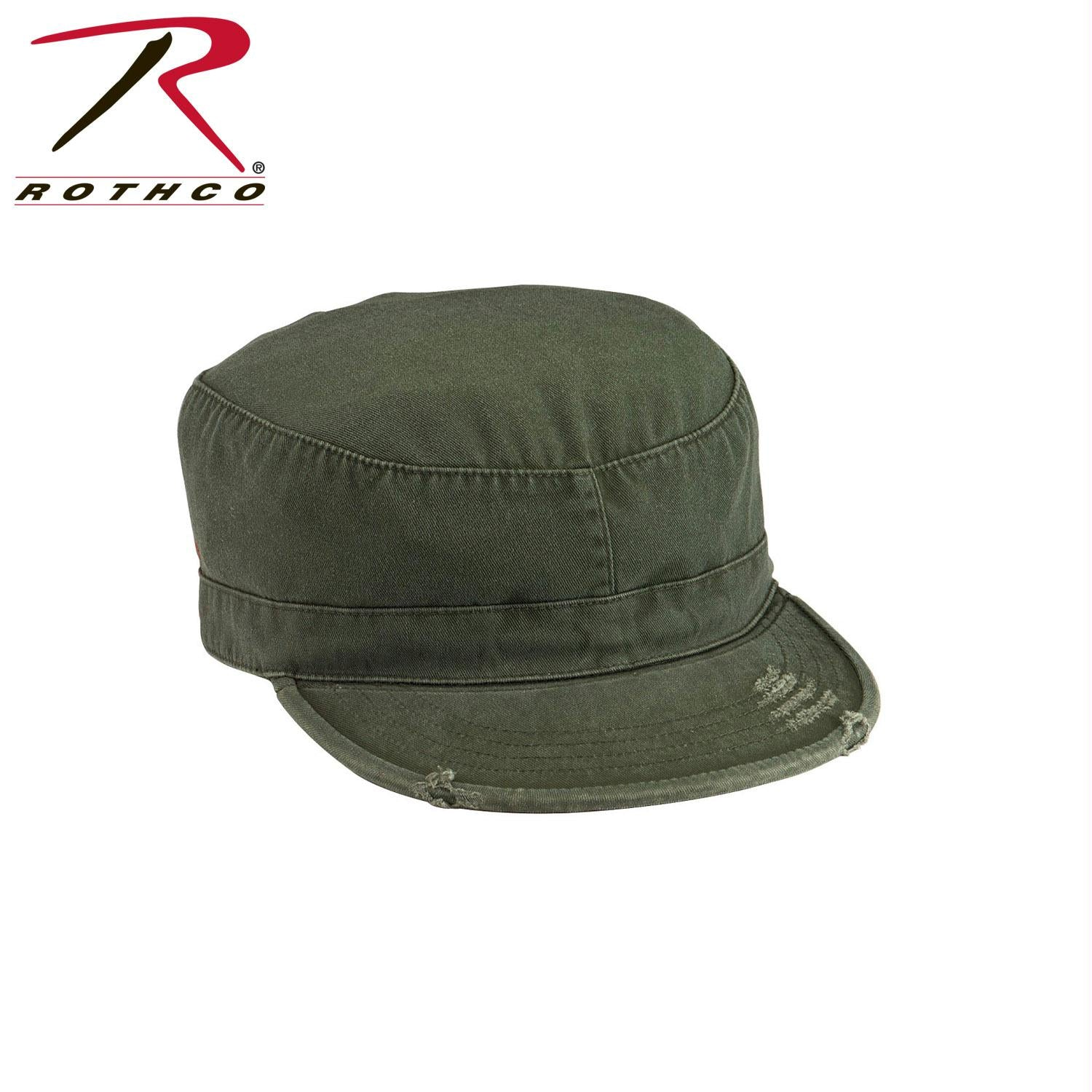 Rothco Solid Vintage Fatigue Cap - Olive Drab / XL