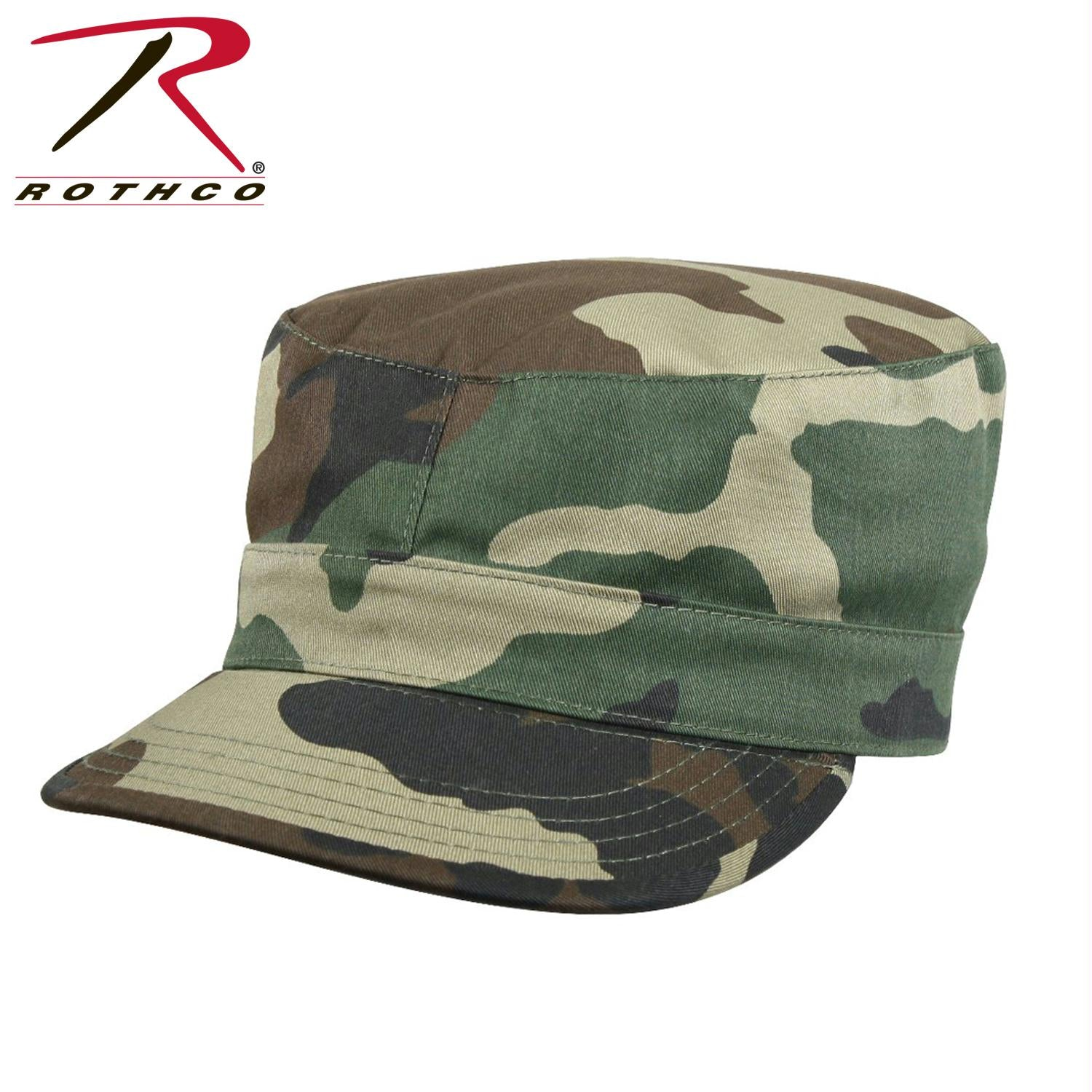 Rothco Camo Fatigue Caps - Woodland Camo / M