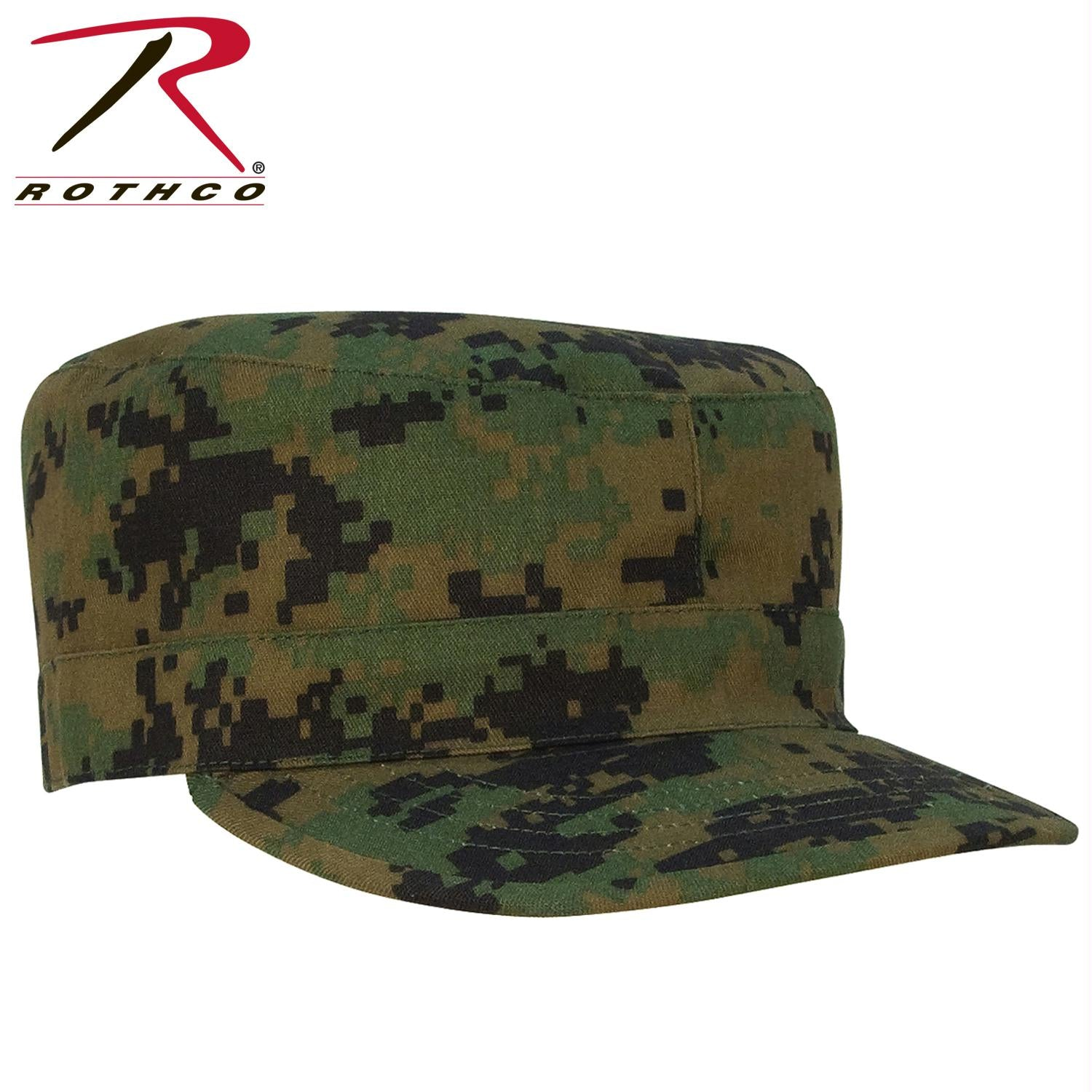 Rothco Camo Fatigue Caps - Woodland Digital Camo / L