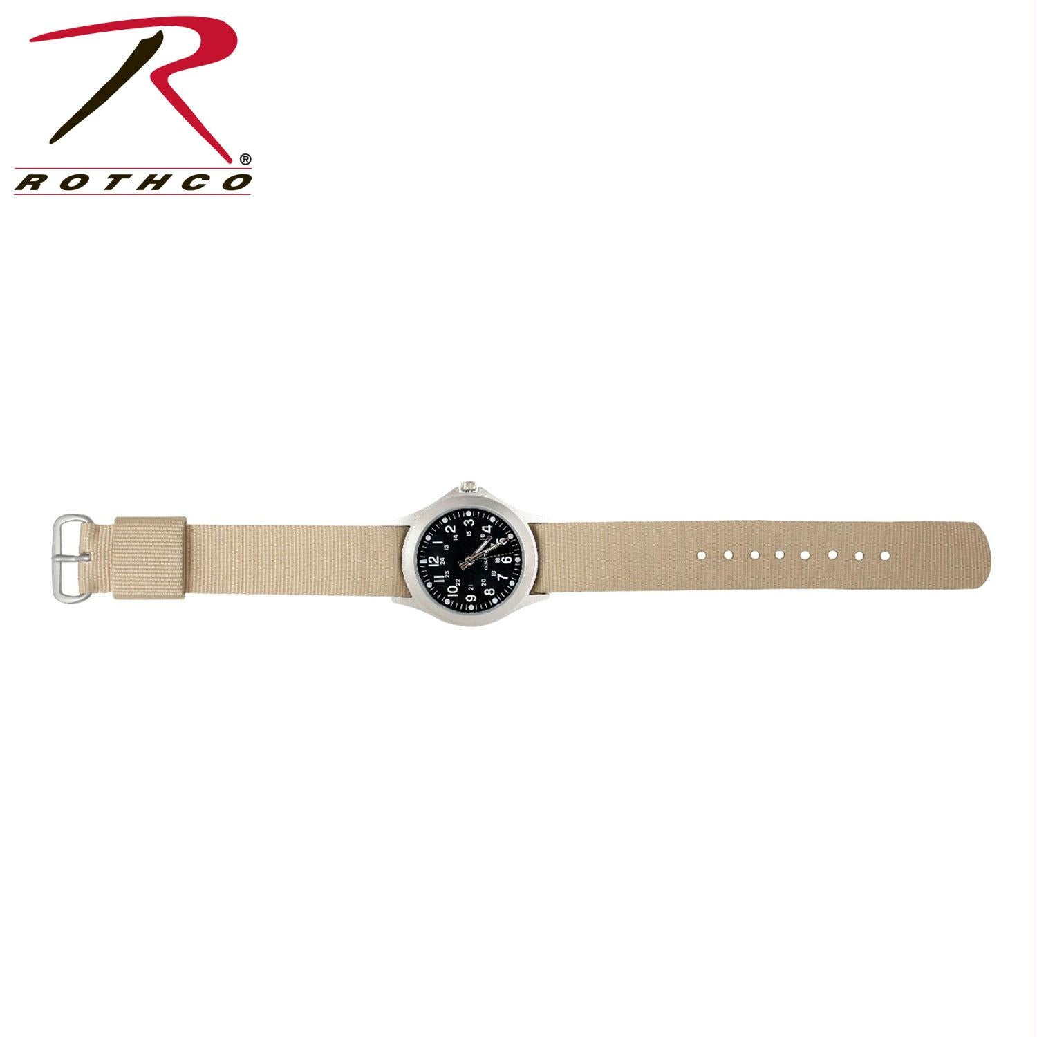 Rothco Military Style Quartz Watch - Tan