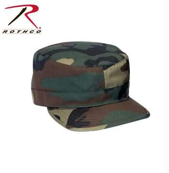 Rothco Adjustable Camo Fatigue Cap - Woodland Camo