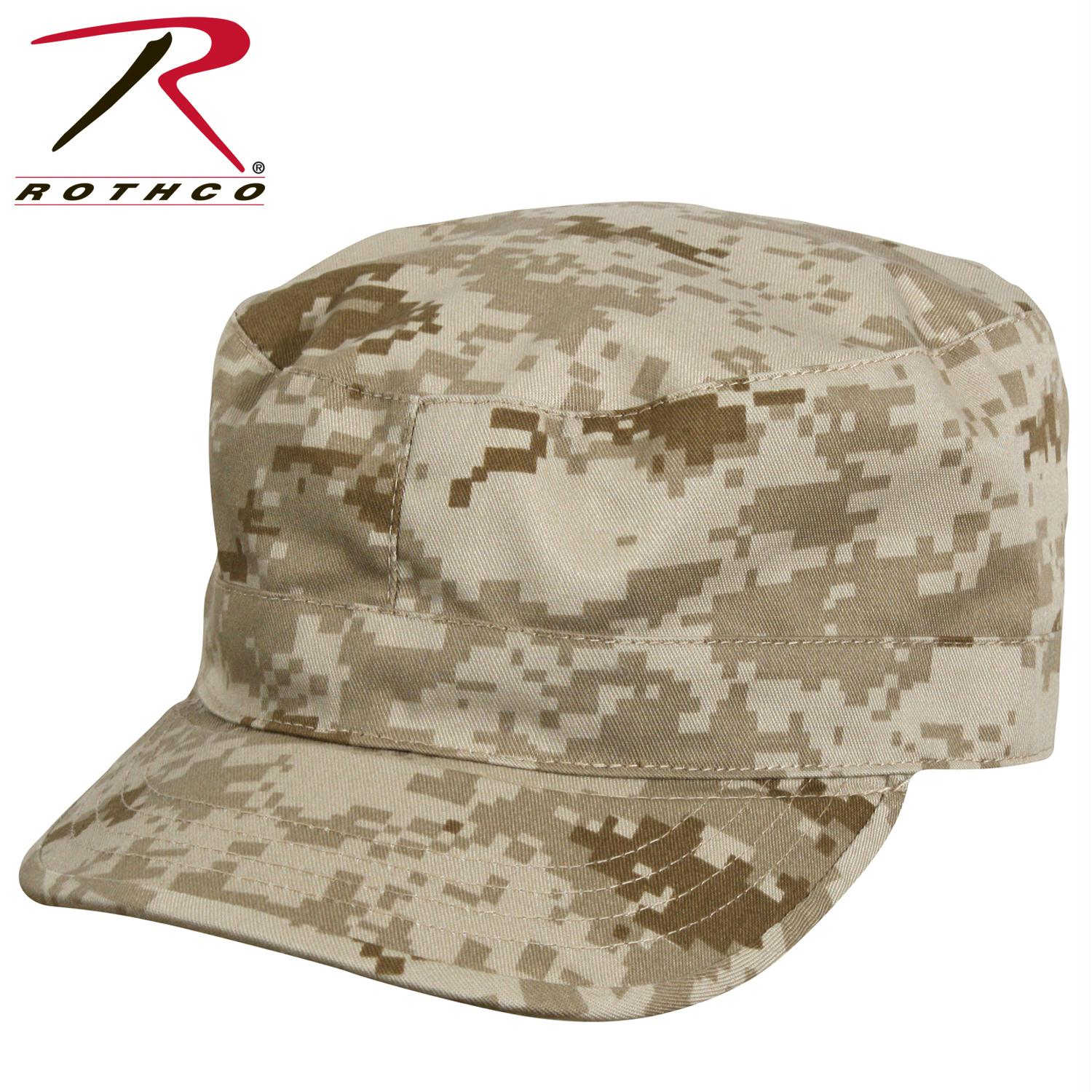 Rothco Camo Fatigue Caps - Desert Digital Camo / XL
