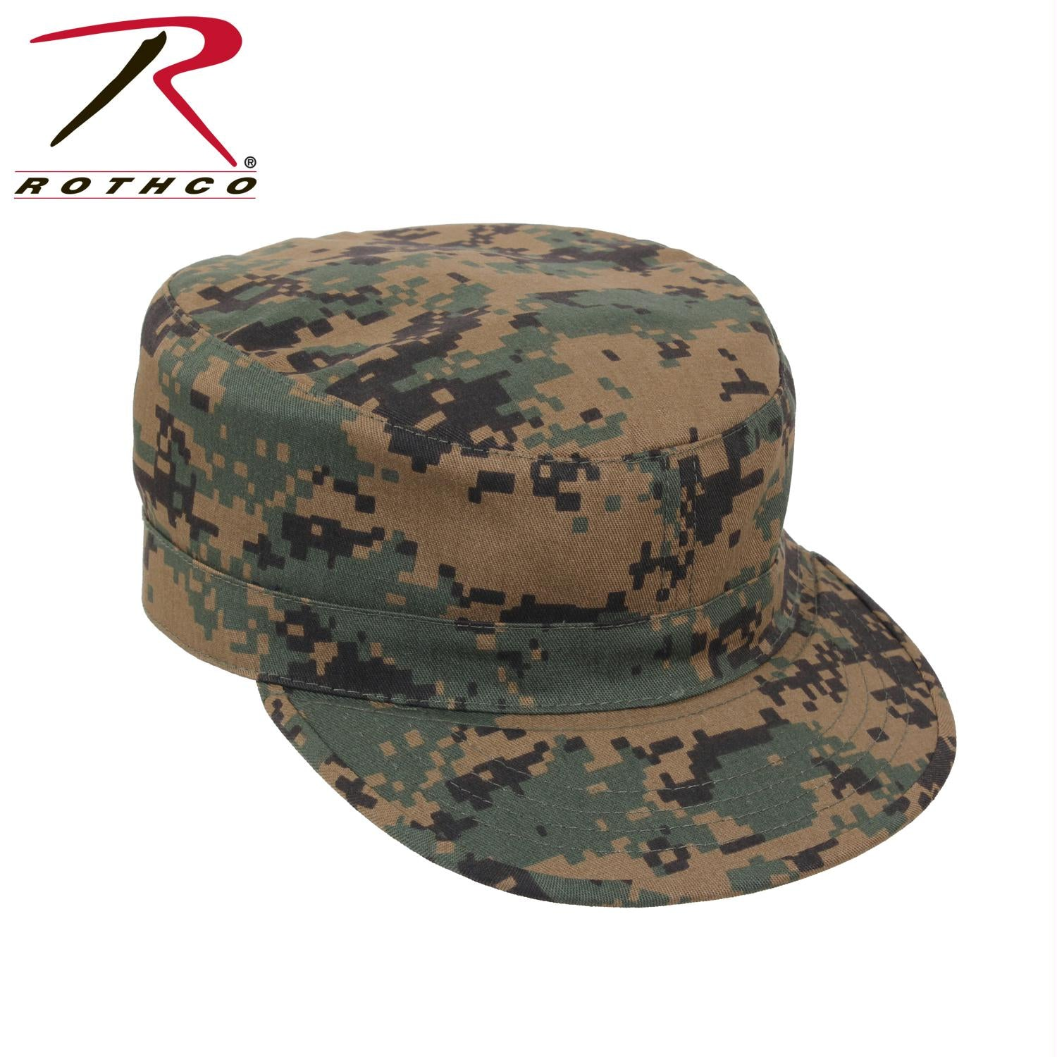 Rothco Adjustable Camo Fatigue Cap - Woodland Digital Camo