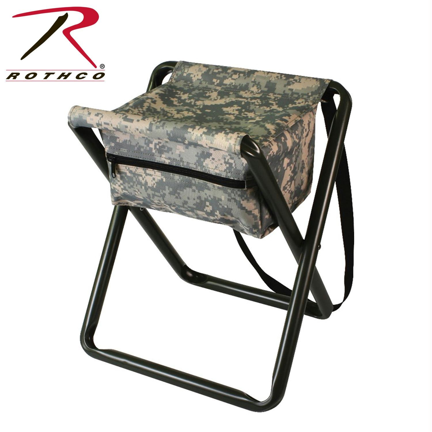 Rothco Deluxe Stool With Pouch - ACU Digital Camo