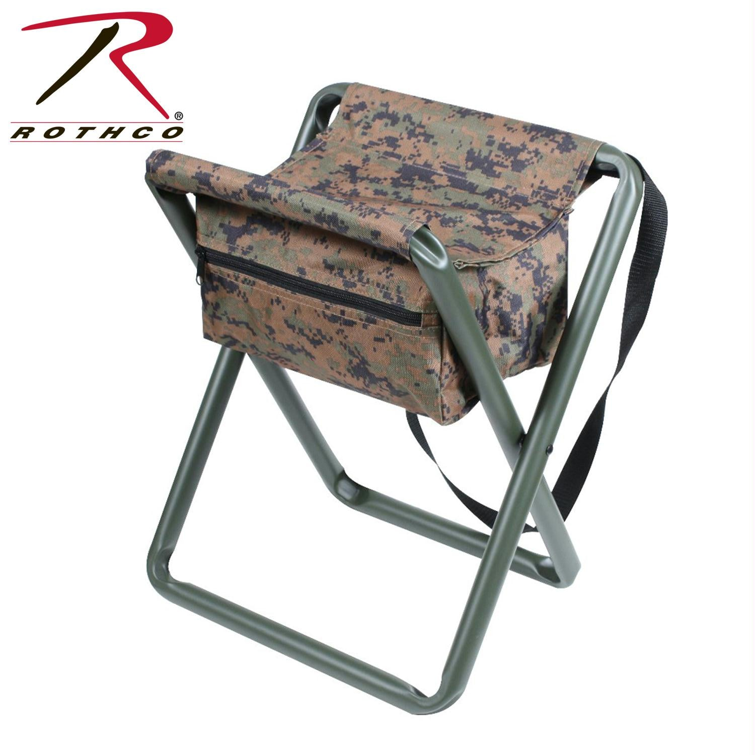 Rothco Deluxe Stool With Pouch - Woodland Digital Camo