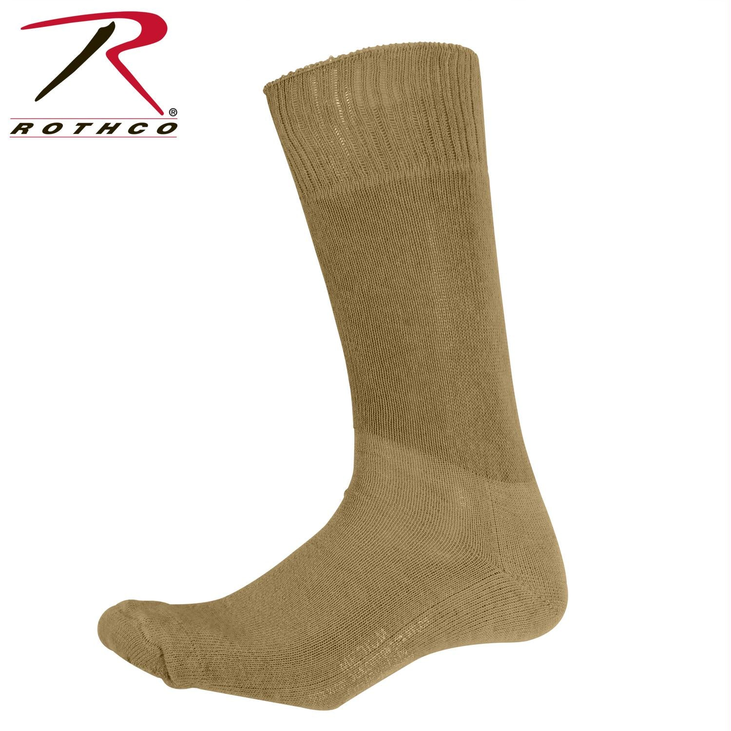 Rothco G.I. Type Cushion Sole Socks - Coyote Brown / L
