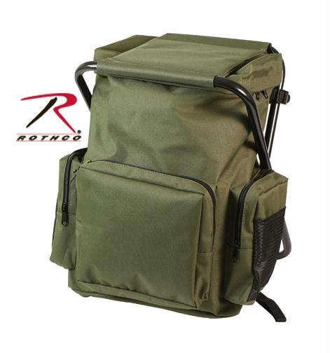 Rothco Backpack and Stool Combo Pack - Olive Drab