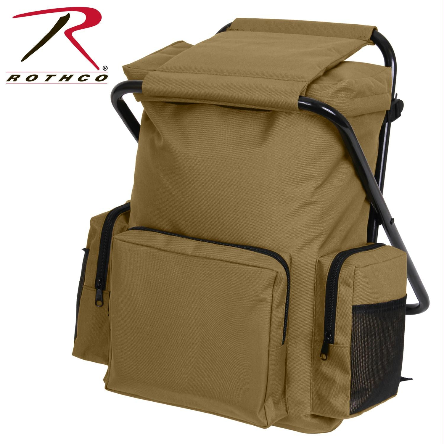 Rothco Backpack and Stool Combo Pack - Coyote Brown