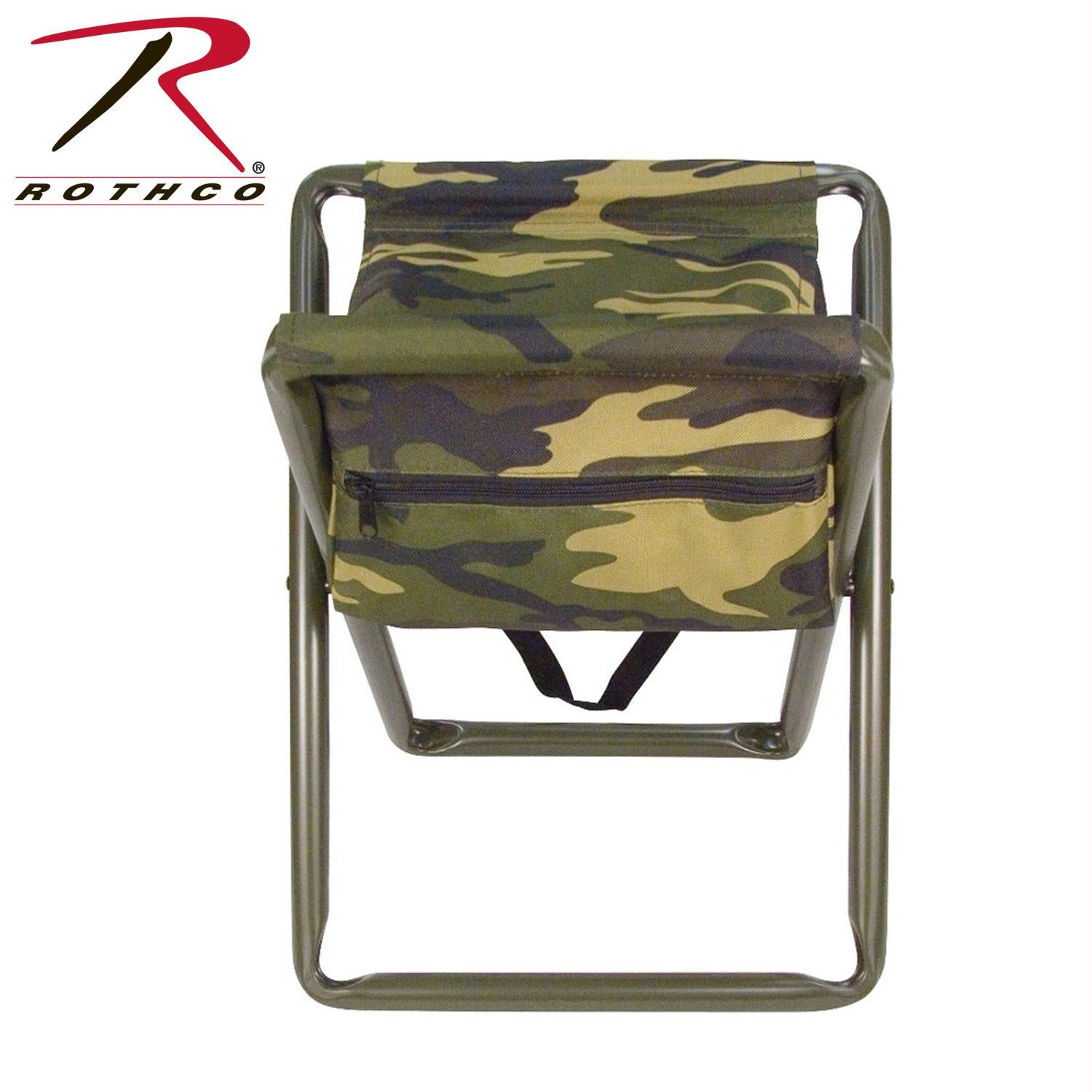 Rothco Deluxe Stool With Pouch - Woodland Camo