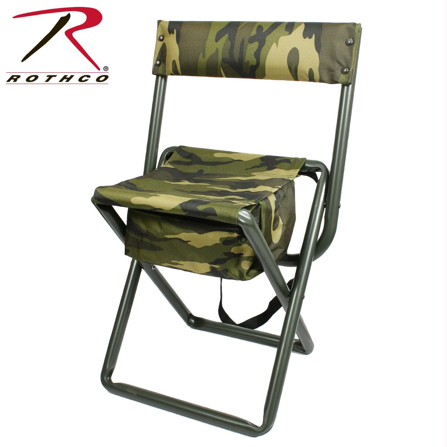 Rothco Deluxe Camo Stool w/ Pouch - Woodland Camo
