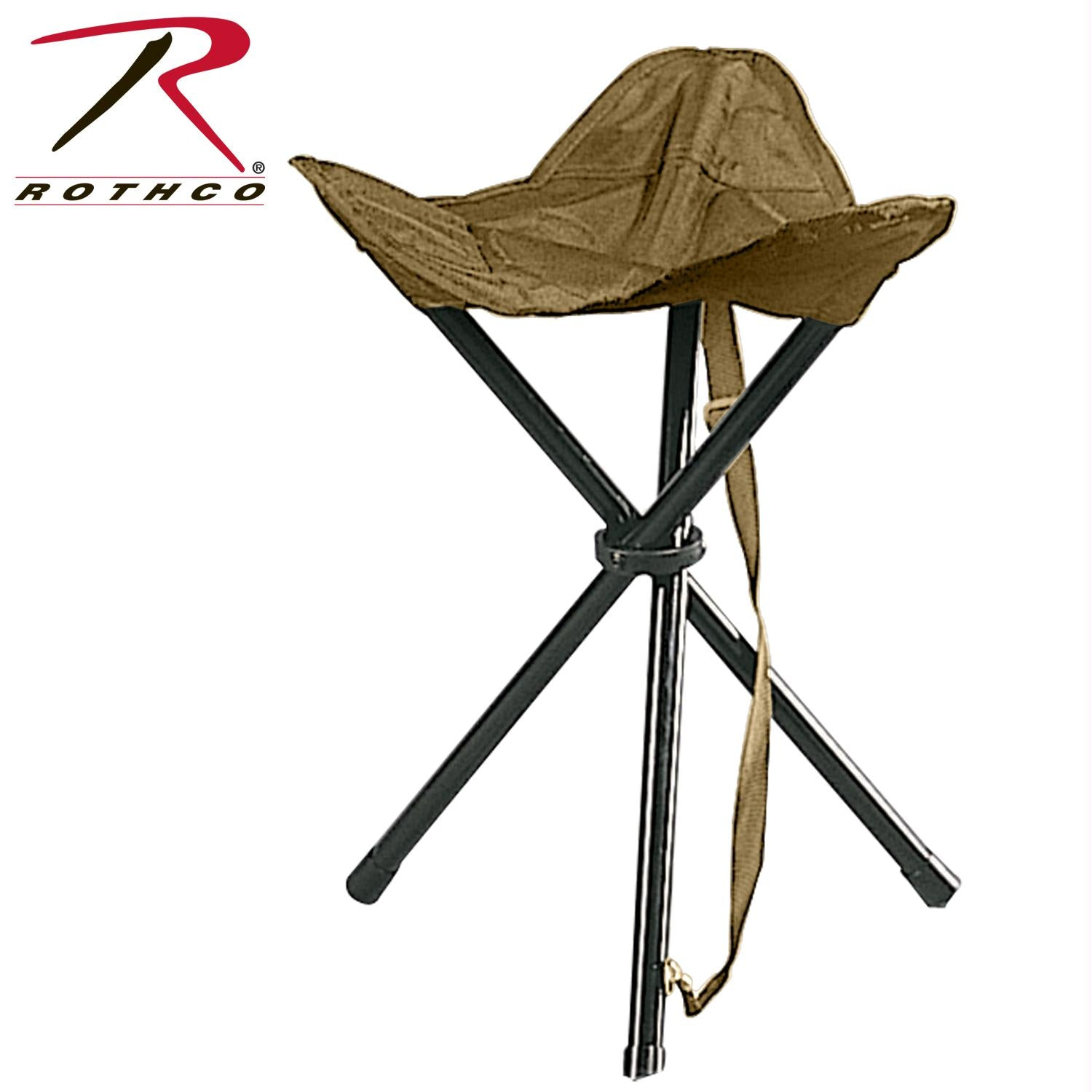 Rothco Collapsible Stool With Carry Strap - Coyote Brown