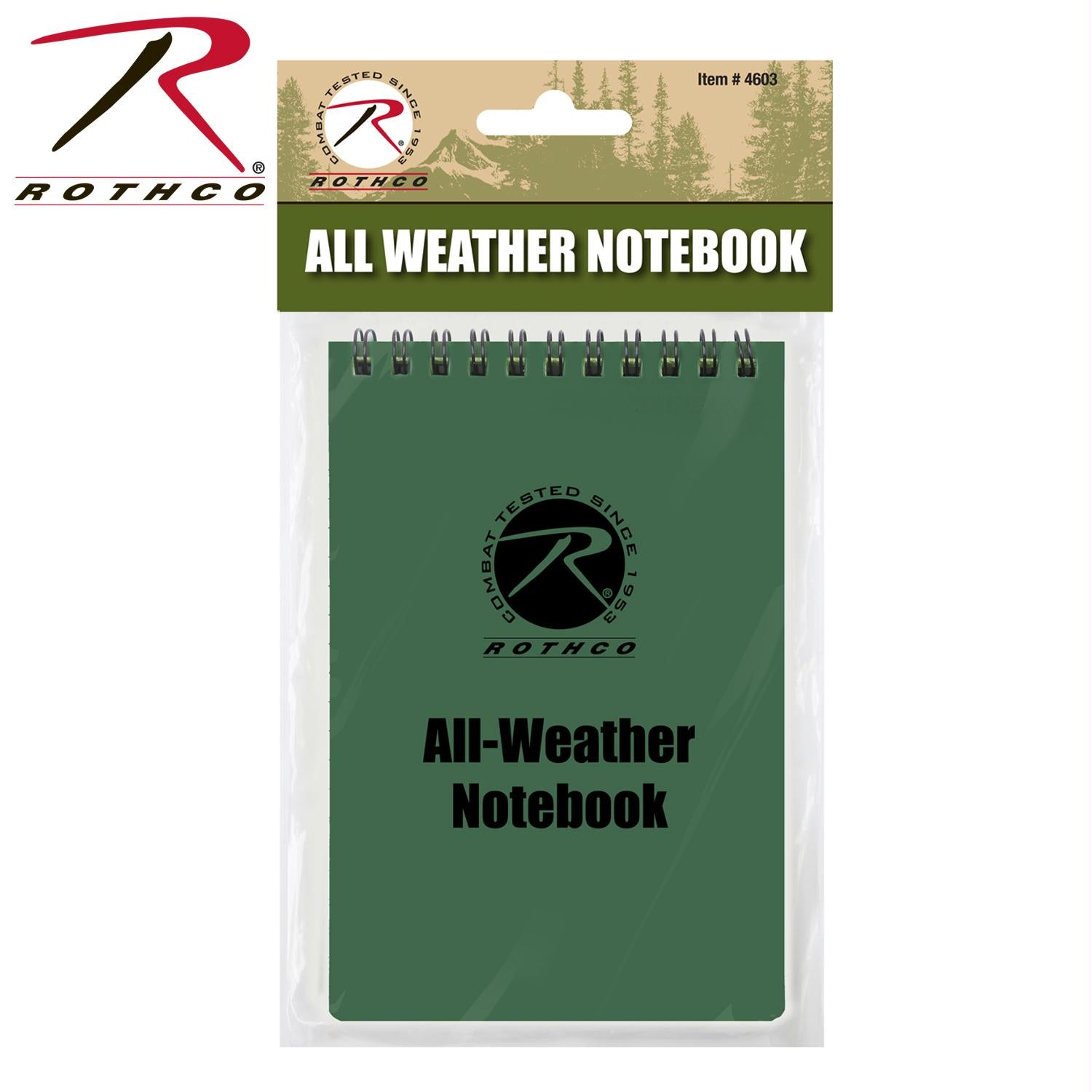 Rothco All Weather Waterproof Notebook - Green / 4