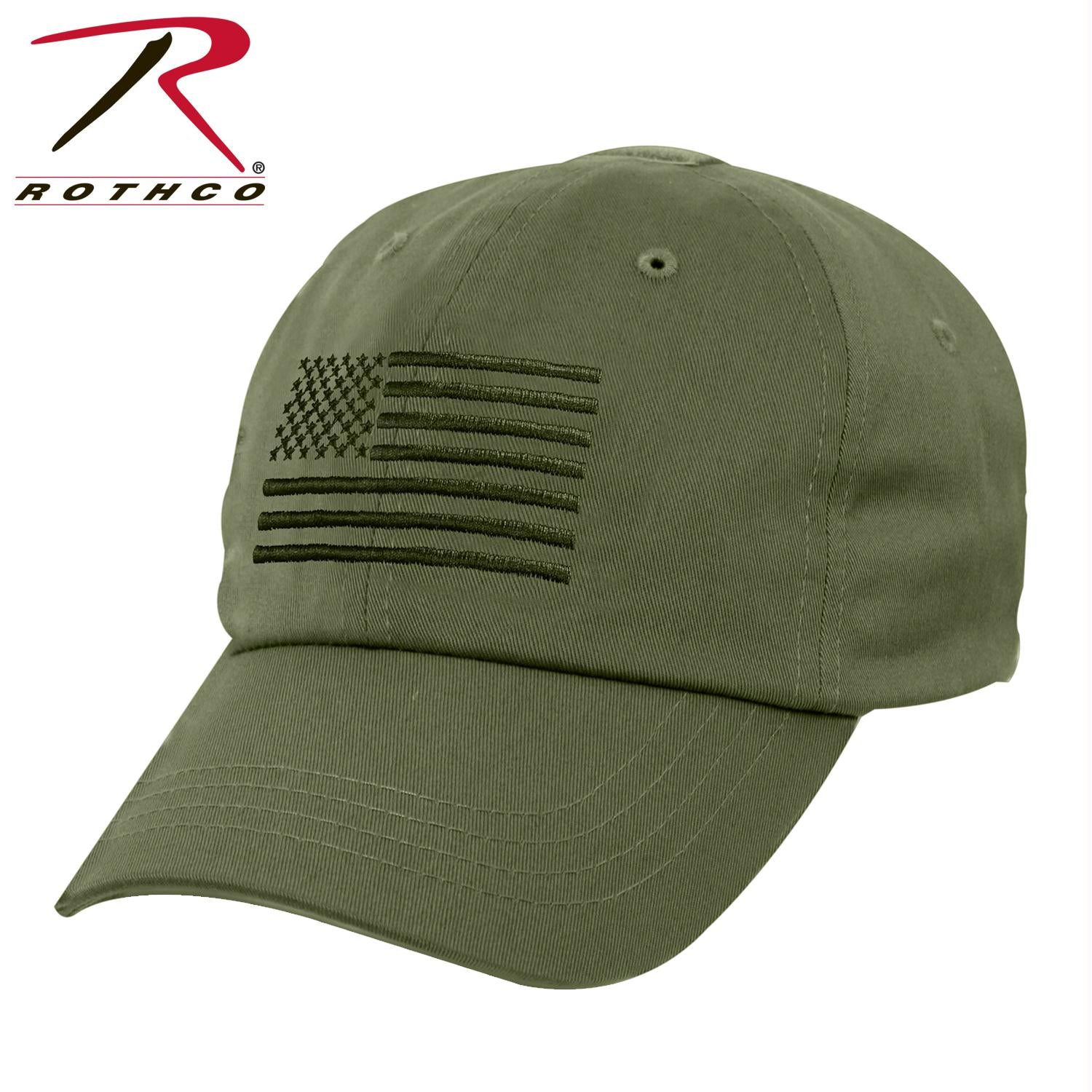 Rothco Tactical Operator Cap With US Flag - Olive Drab / One Size