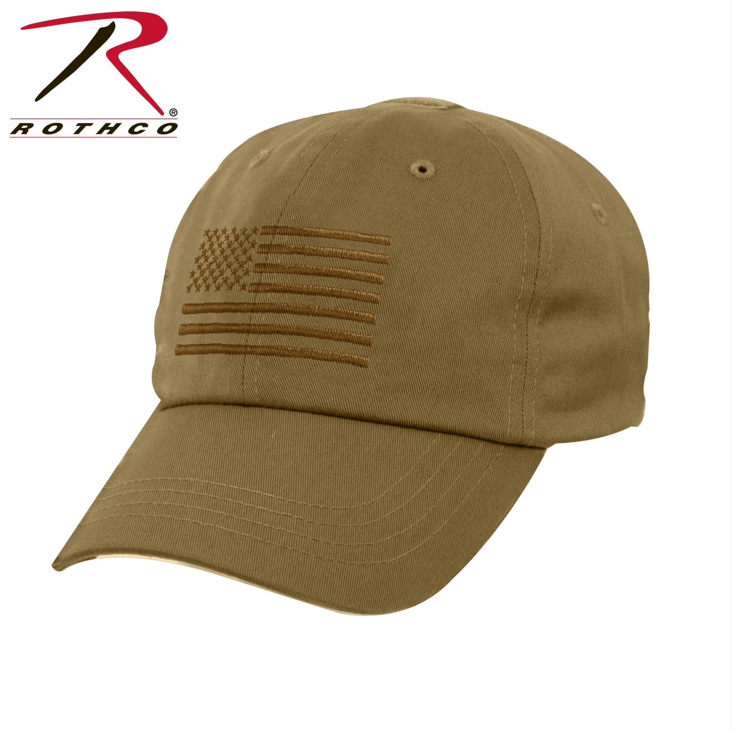 Rothco Tactical Operator Cap With US Flag - Coyote Brown / One Size