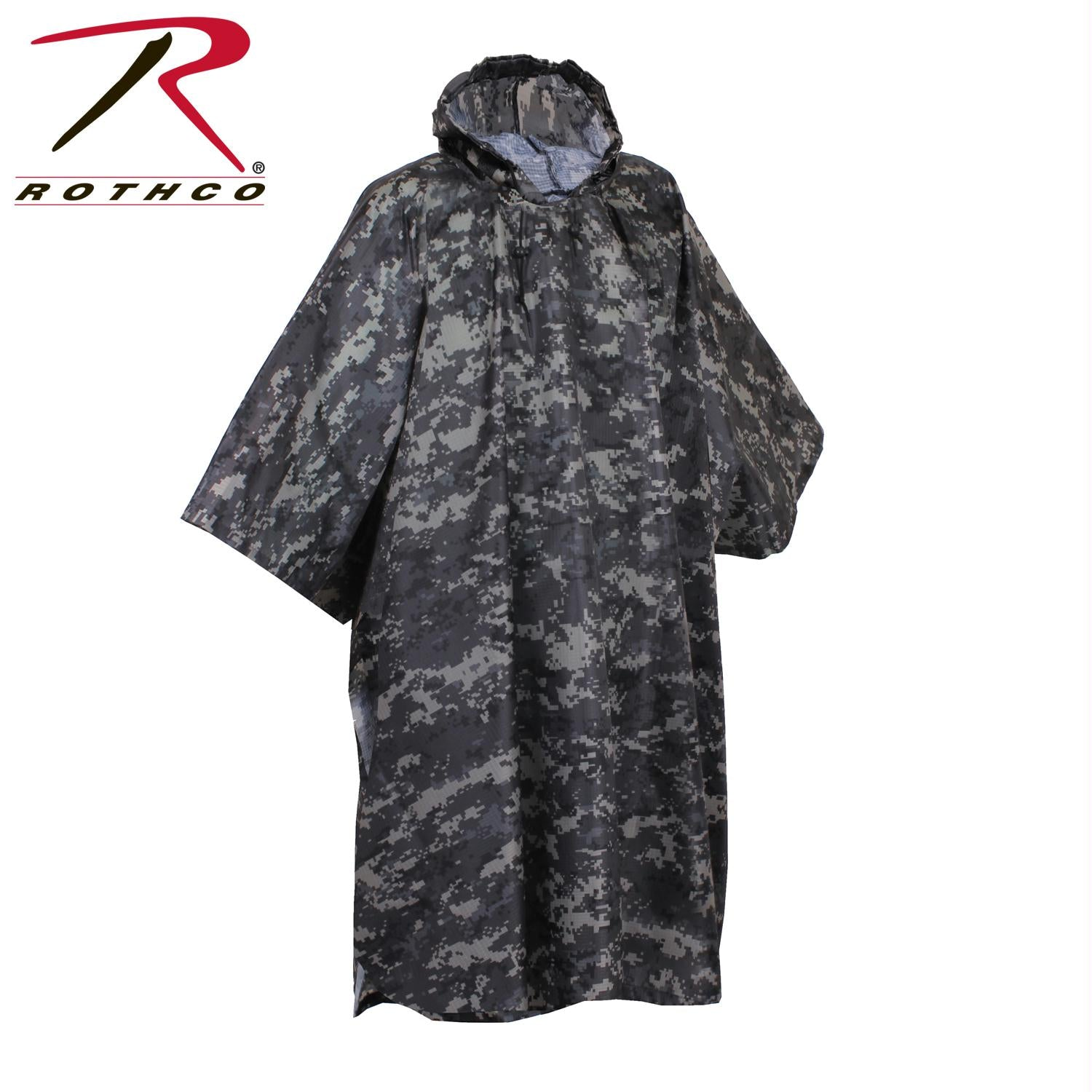 Rothco G.I. Type Military Rip-Stop Poncho - Subdued Urban Digital Camo