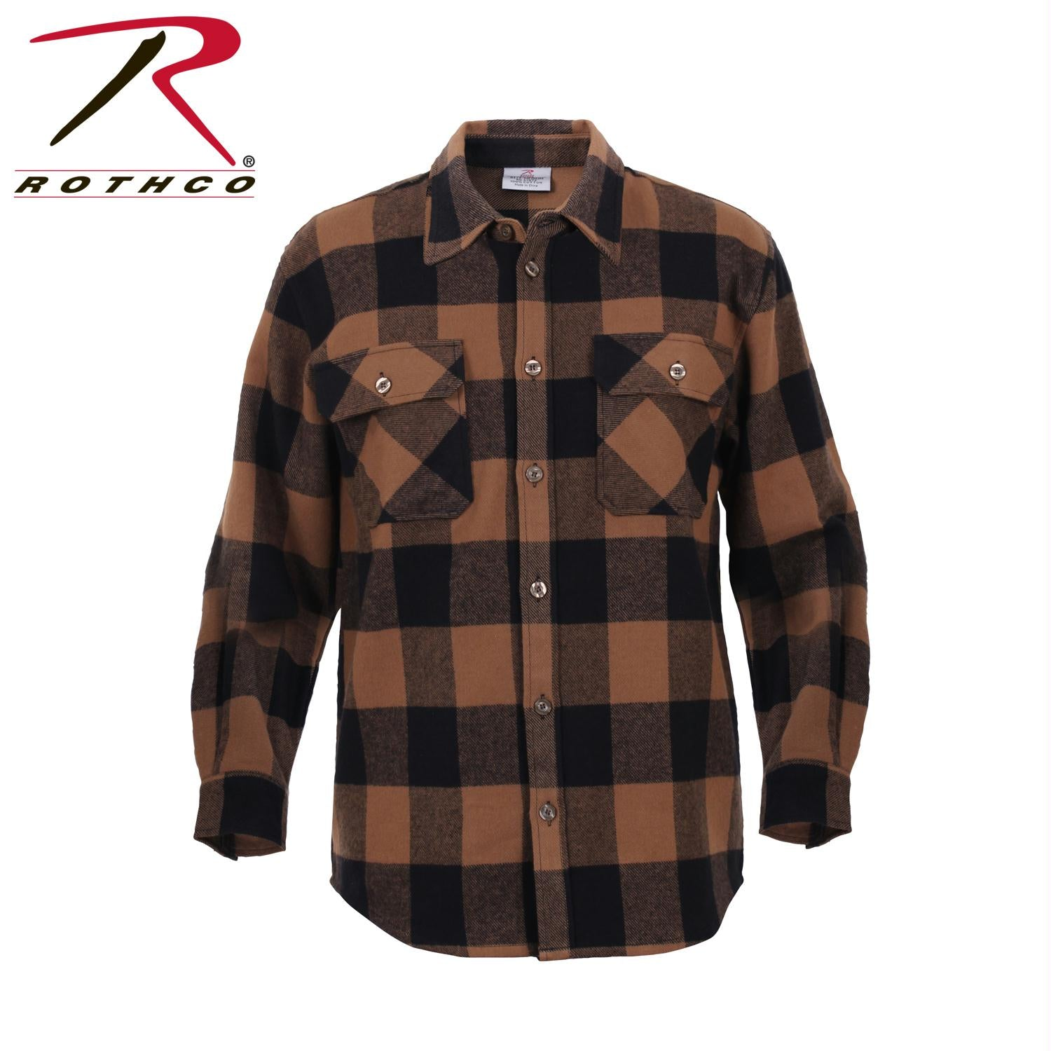 Rothco Extra Heavyweight Buffalo Plaid Flannel Shirts - Brown Plaid / S