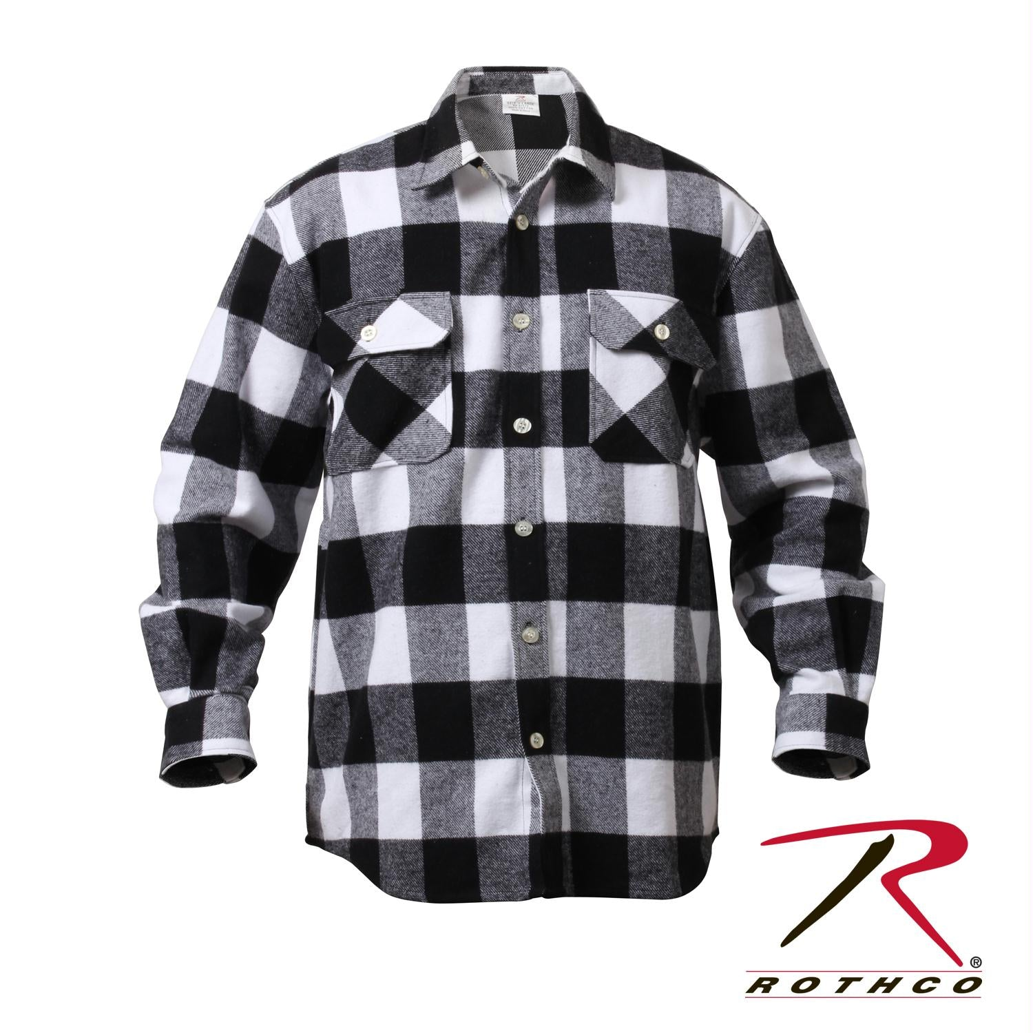 Rothco Extra Heavyweight Buffalo Plaid Flannel Shirts - White Plaid / M