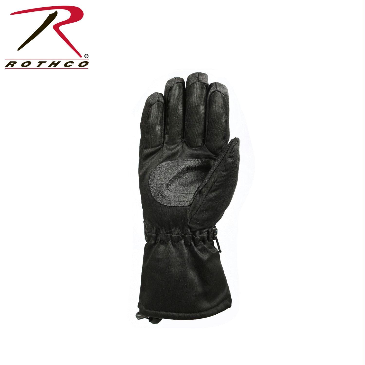 Rothco Extra-Long Insulated Gloves - Black / M
