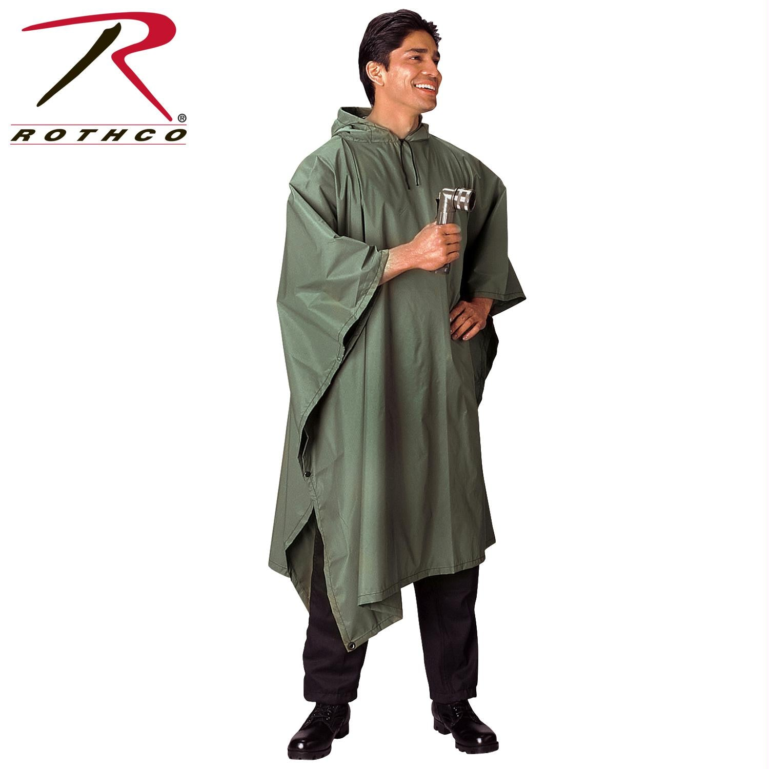 Rothco G.I. Type Military Rip-Stop Poncho - Olive Drab